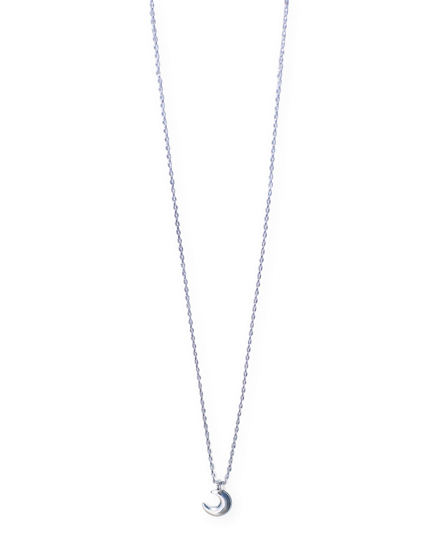 Moon thin necklace