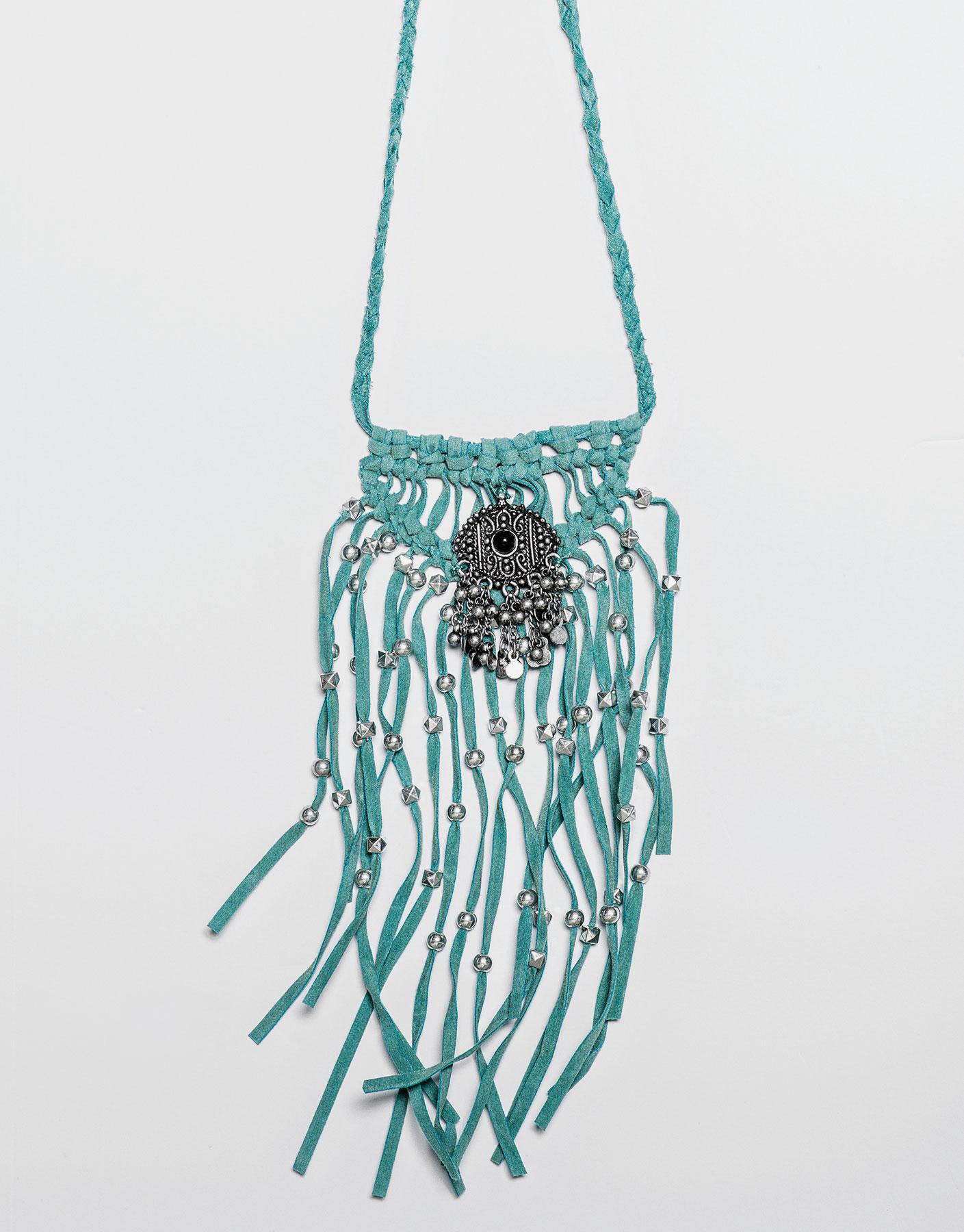 Turquoise fringe necklace