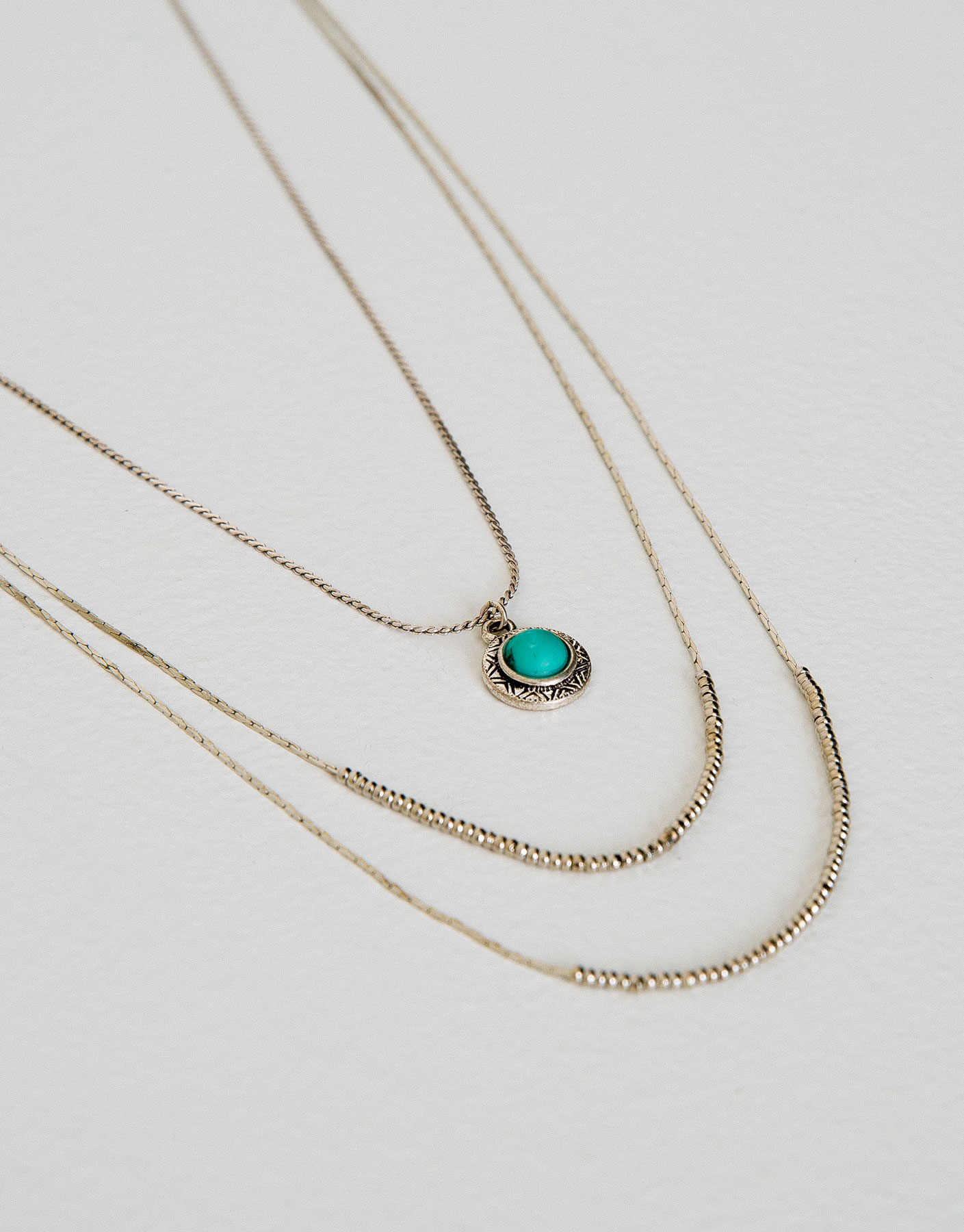 2-pack of fine turquoise necklaces