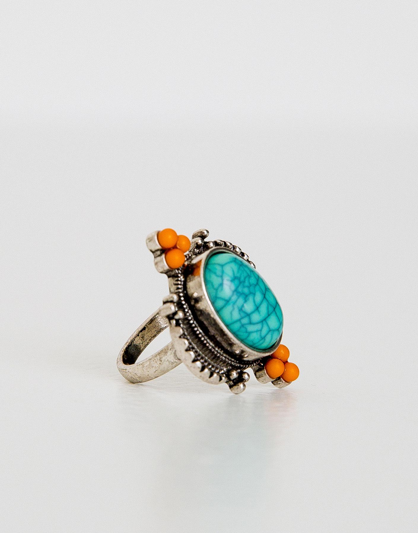 Anelo pedra turquesa