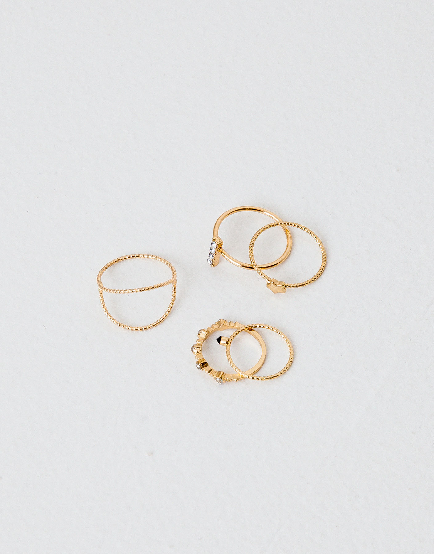 Pack of 5 thin rings