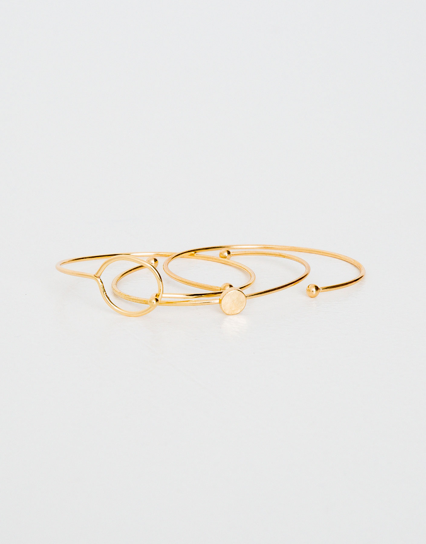 Pack of 3 thin bangle bracelets