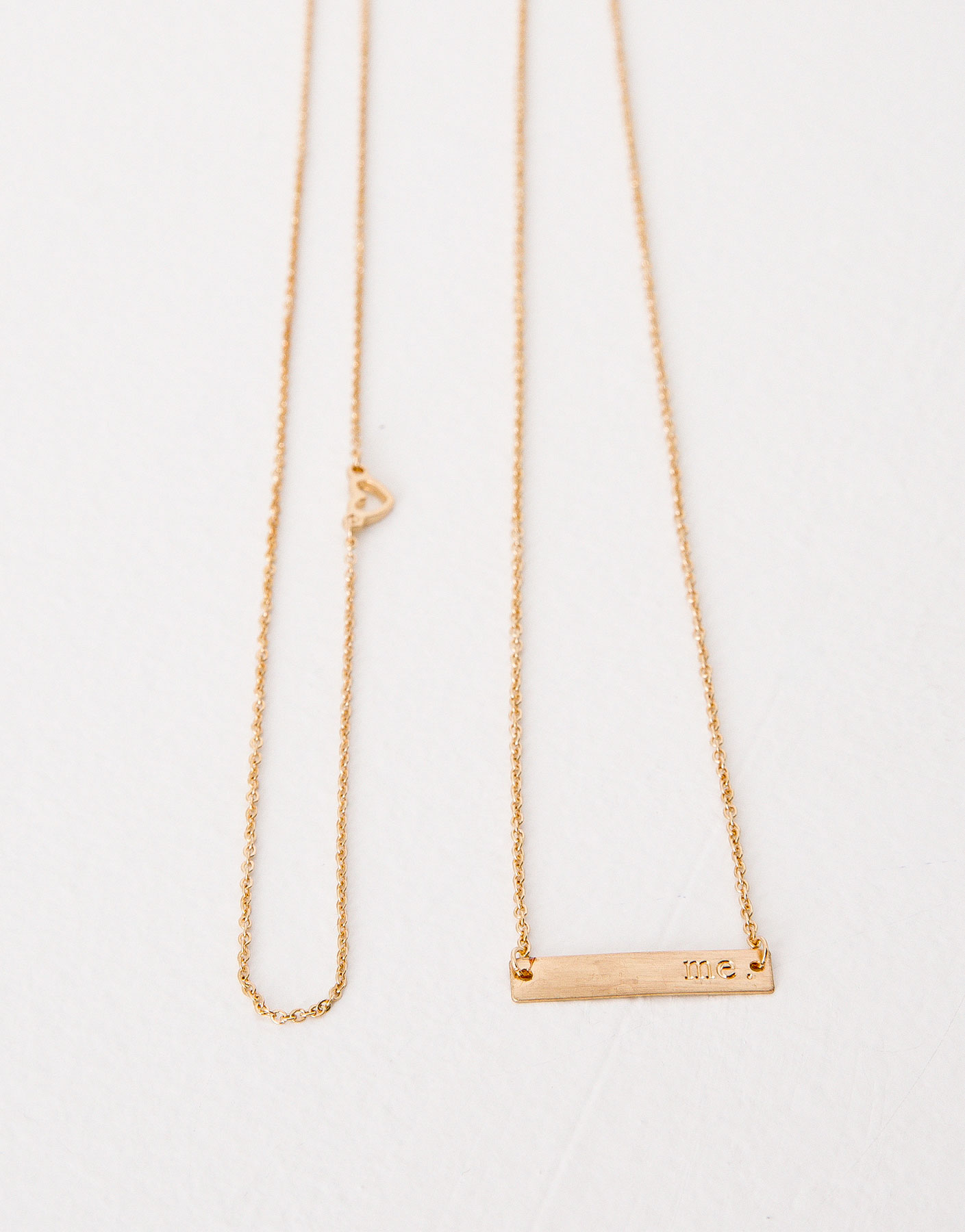 2-pack of love me necklaces