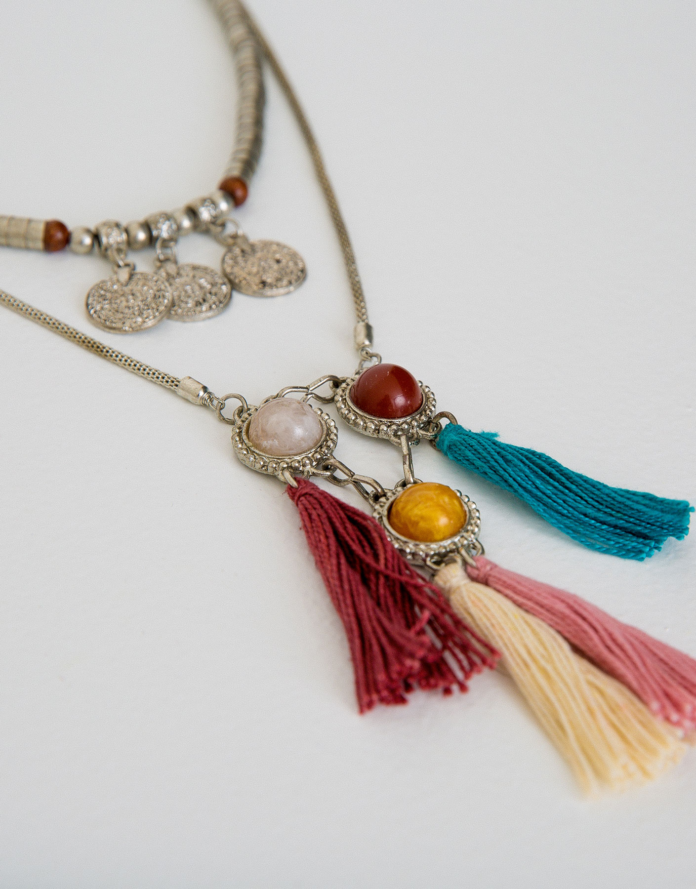 Double stones necklace