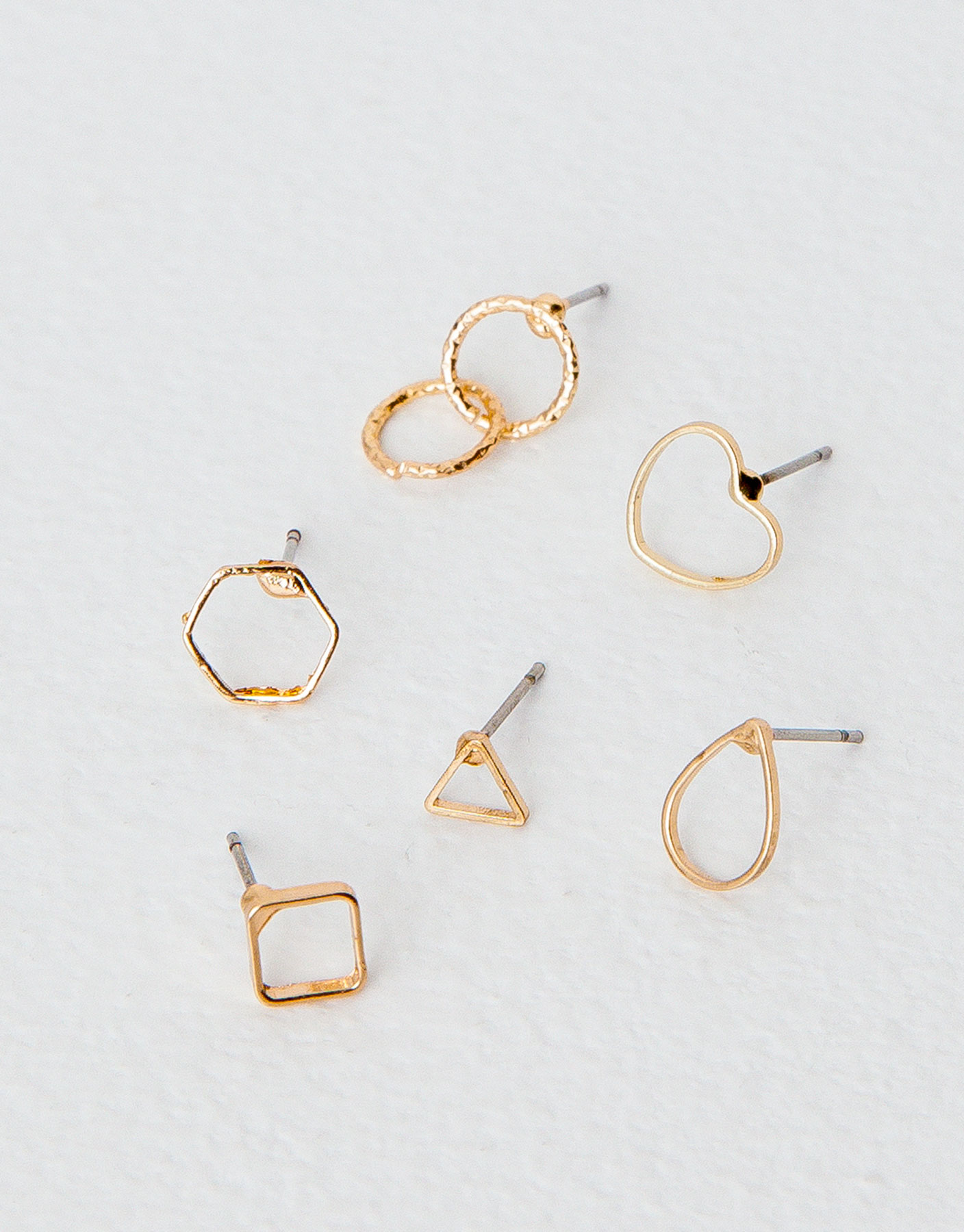 6-pack geometric earrings
