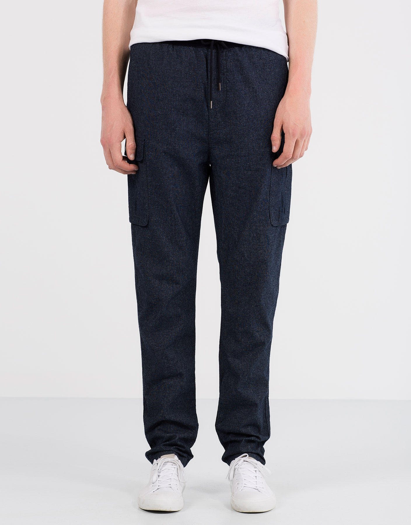 Denim cargo trousers