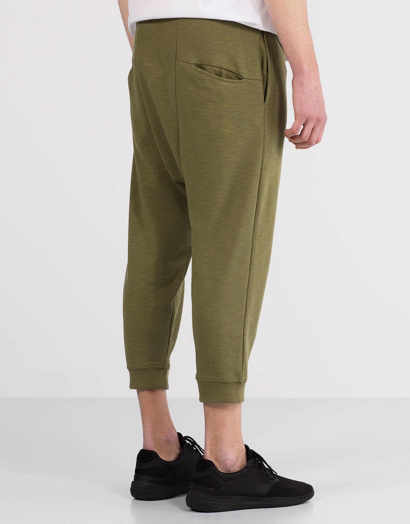 Slub knit jogging trousers