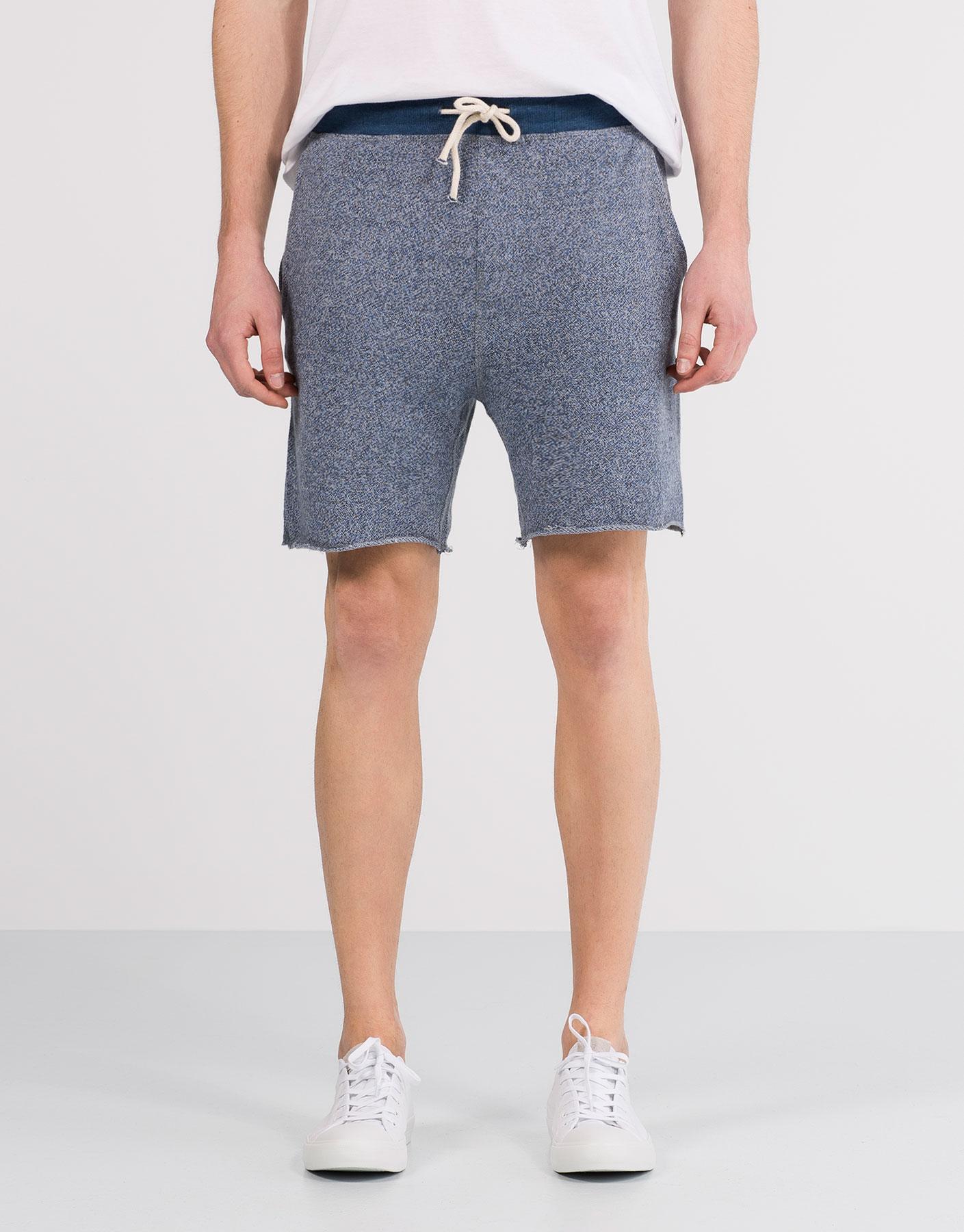 Contrast bermuda jogging shorts