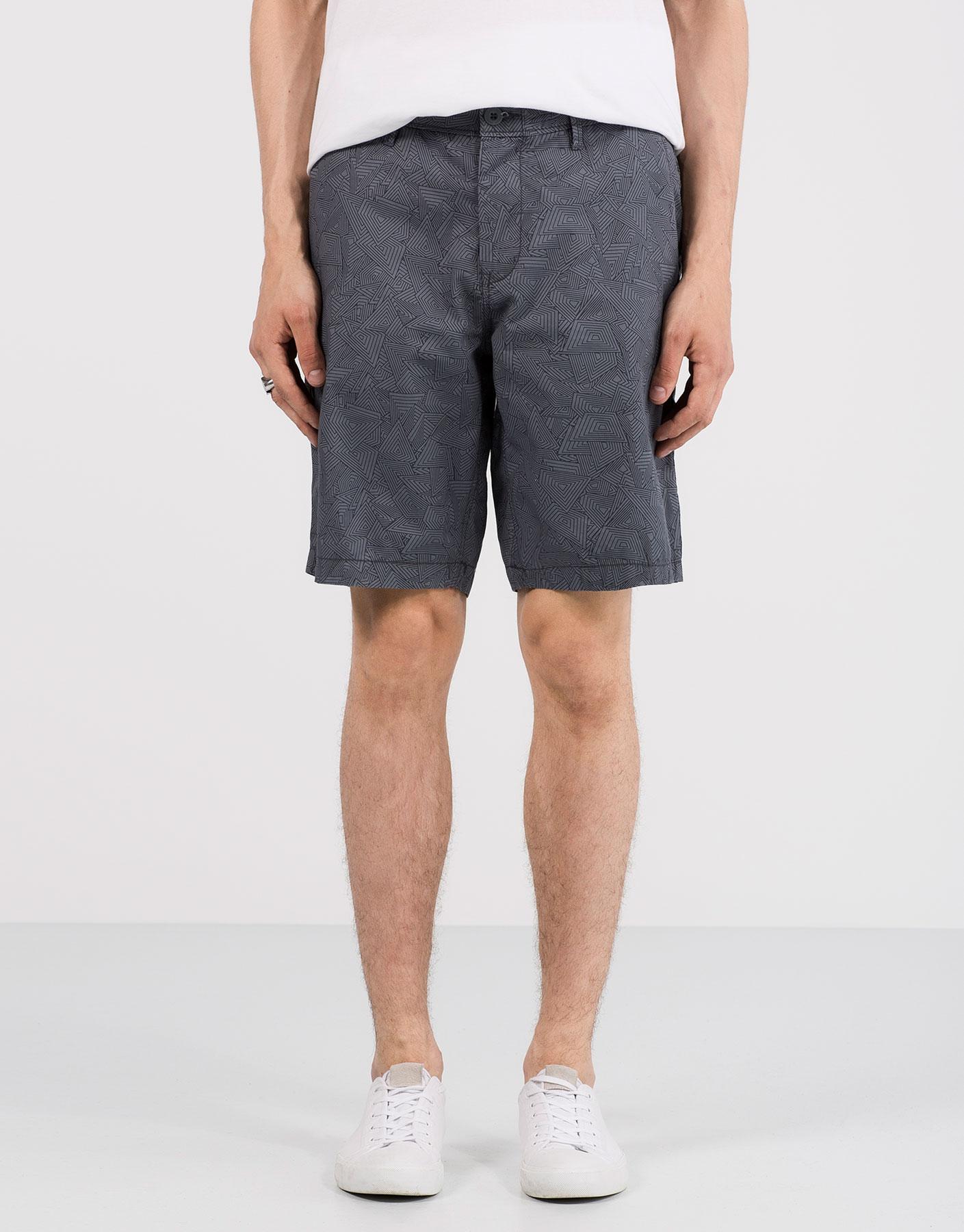 Light chino-style bermuda shorts