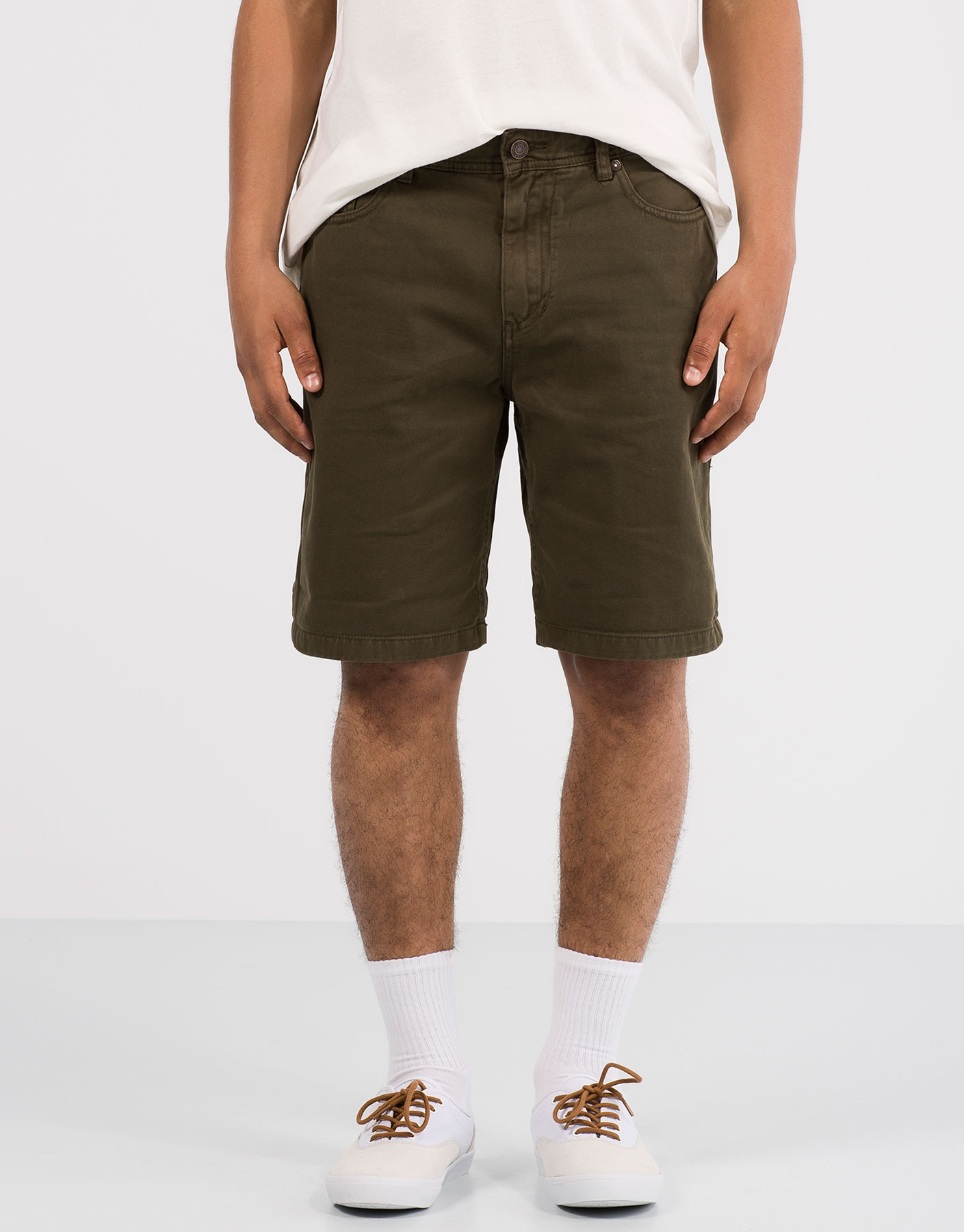 Basic 5 pocket bermuda shorts