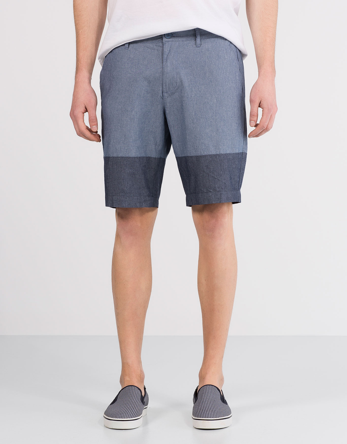 Contrasting panel bermuda shorts