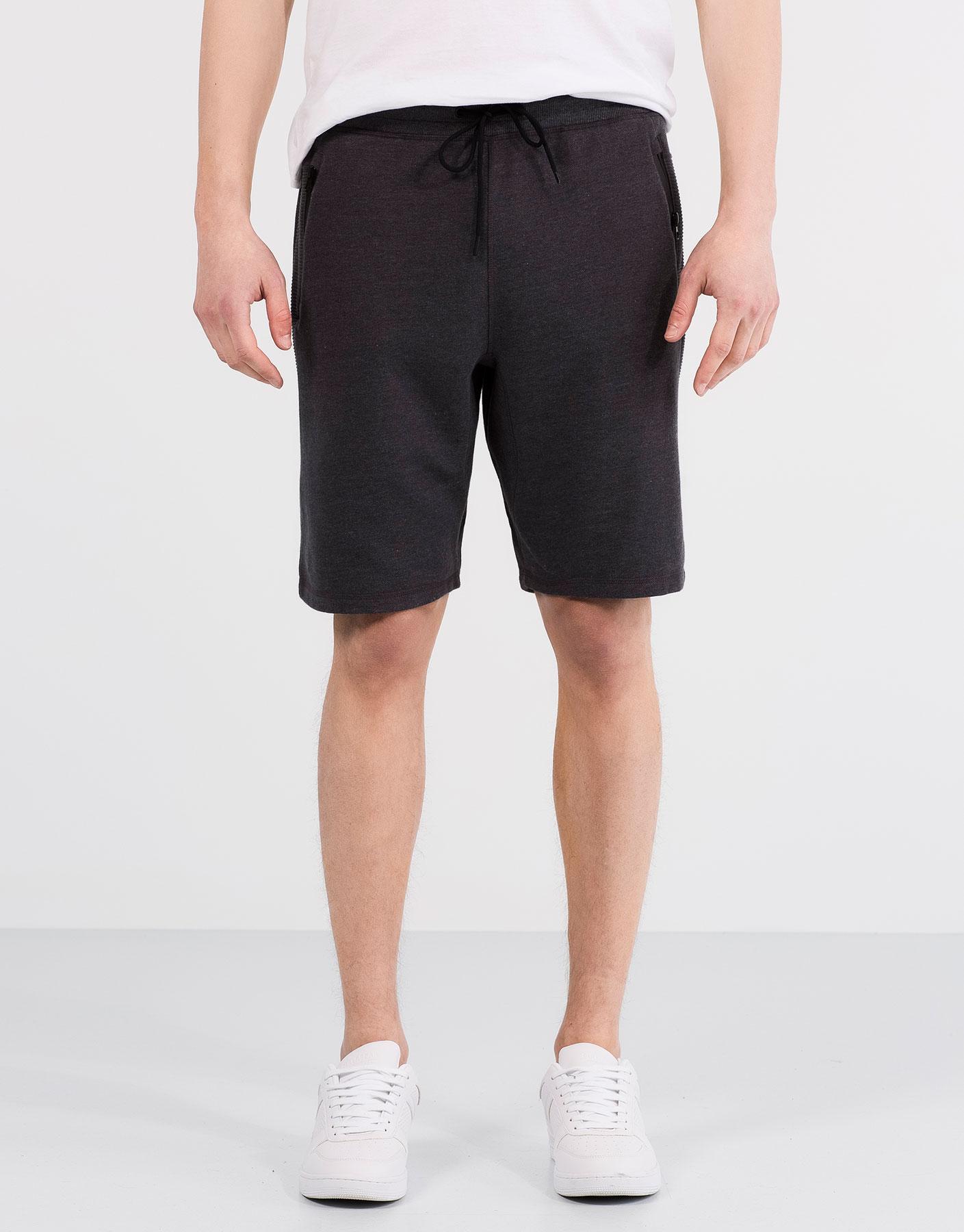 Ottoman rib jogging bermuda shorts