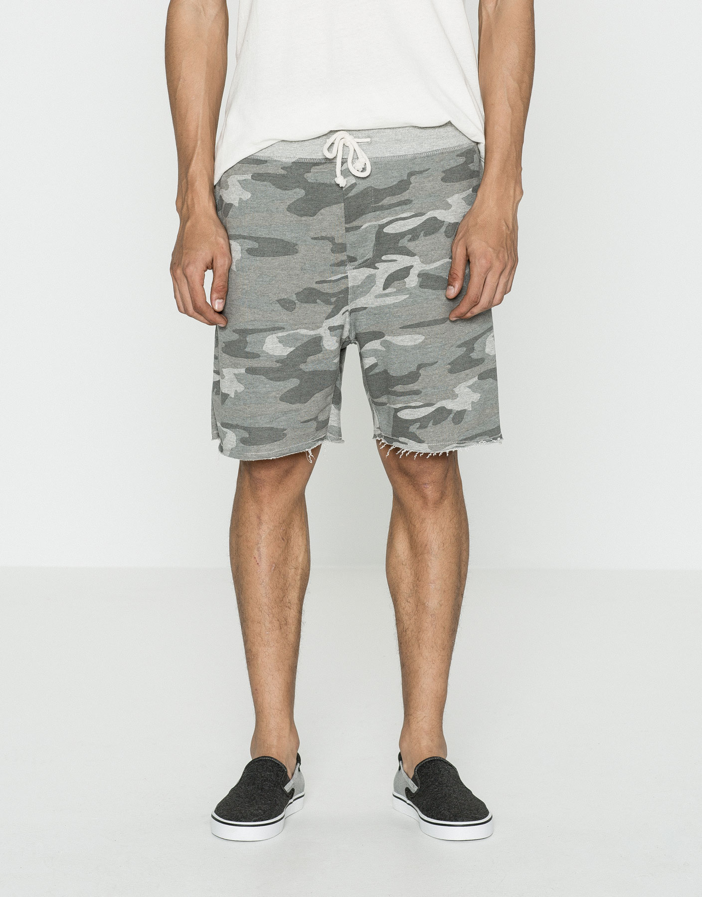 Camouflage jersey bermuda