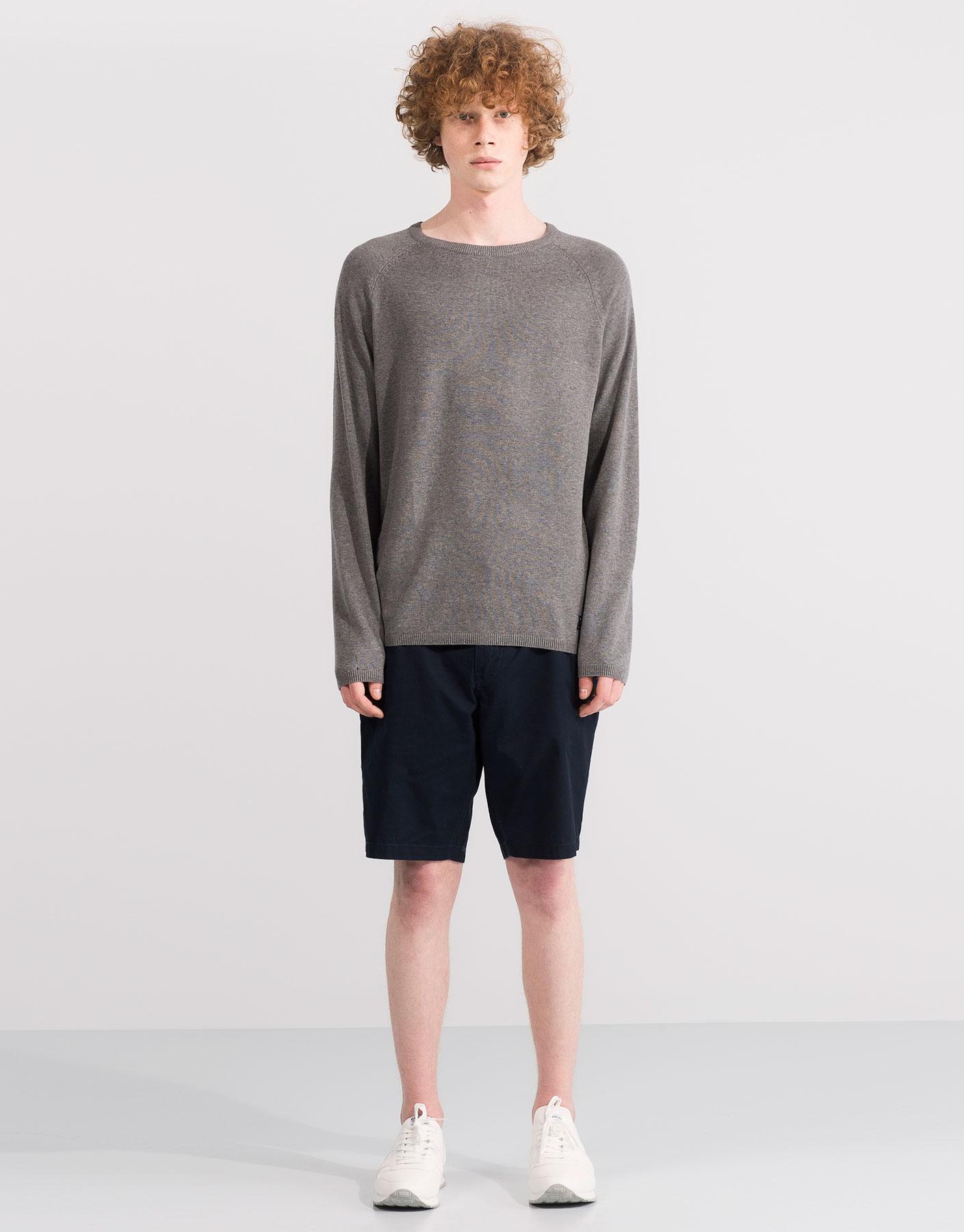 Basic blue sweater