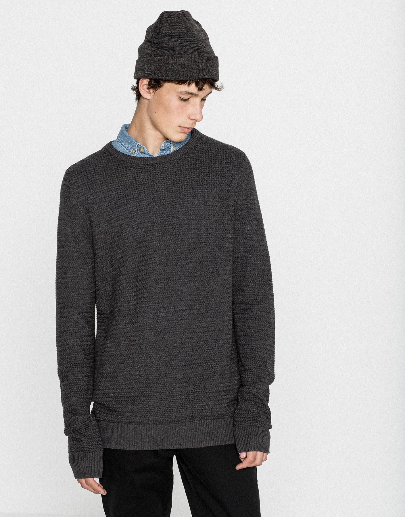 Fine plaited sweater