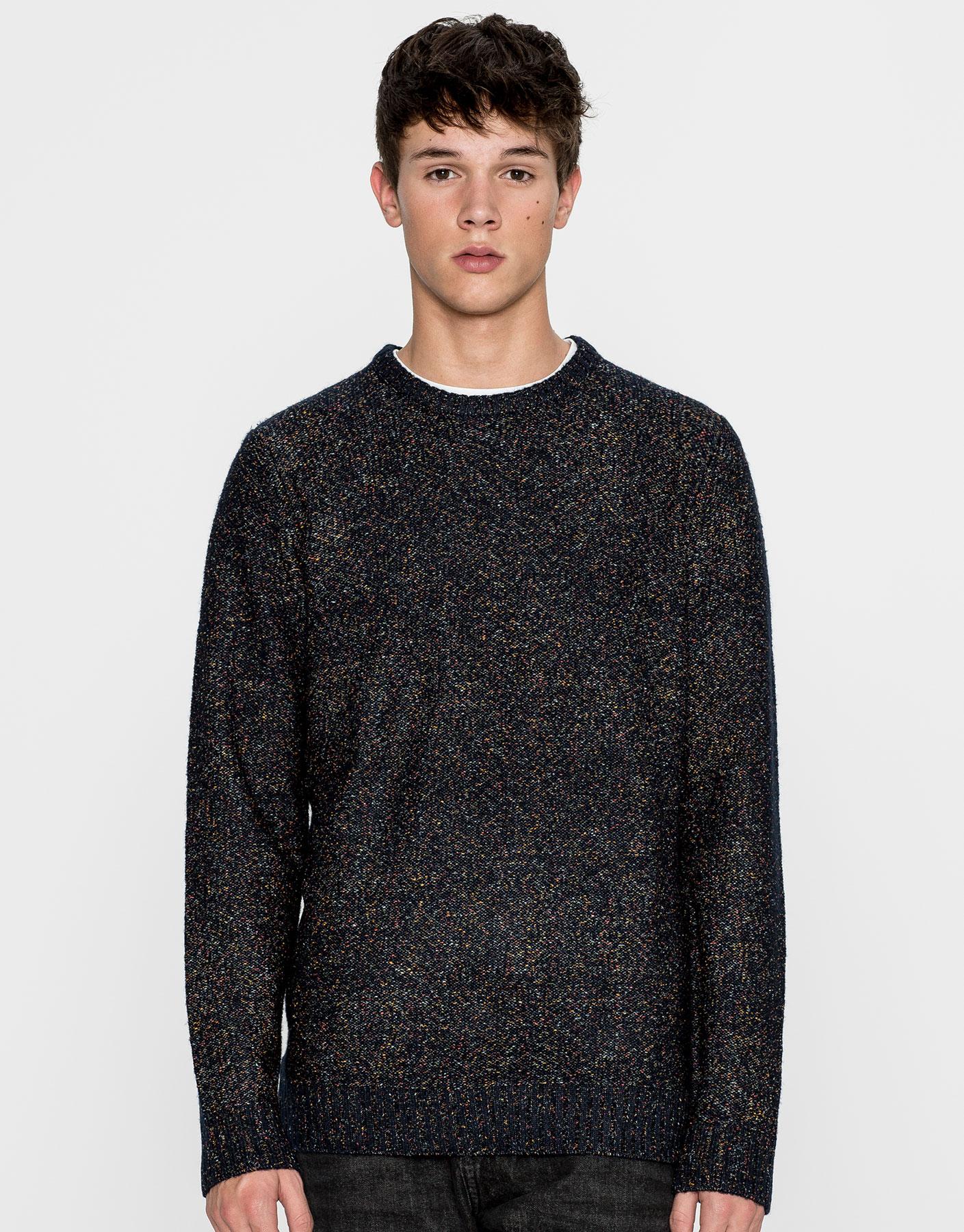 Multicoloured yarn sweater