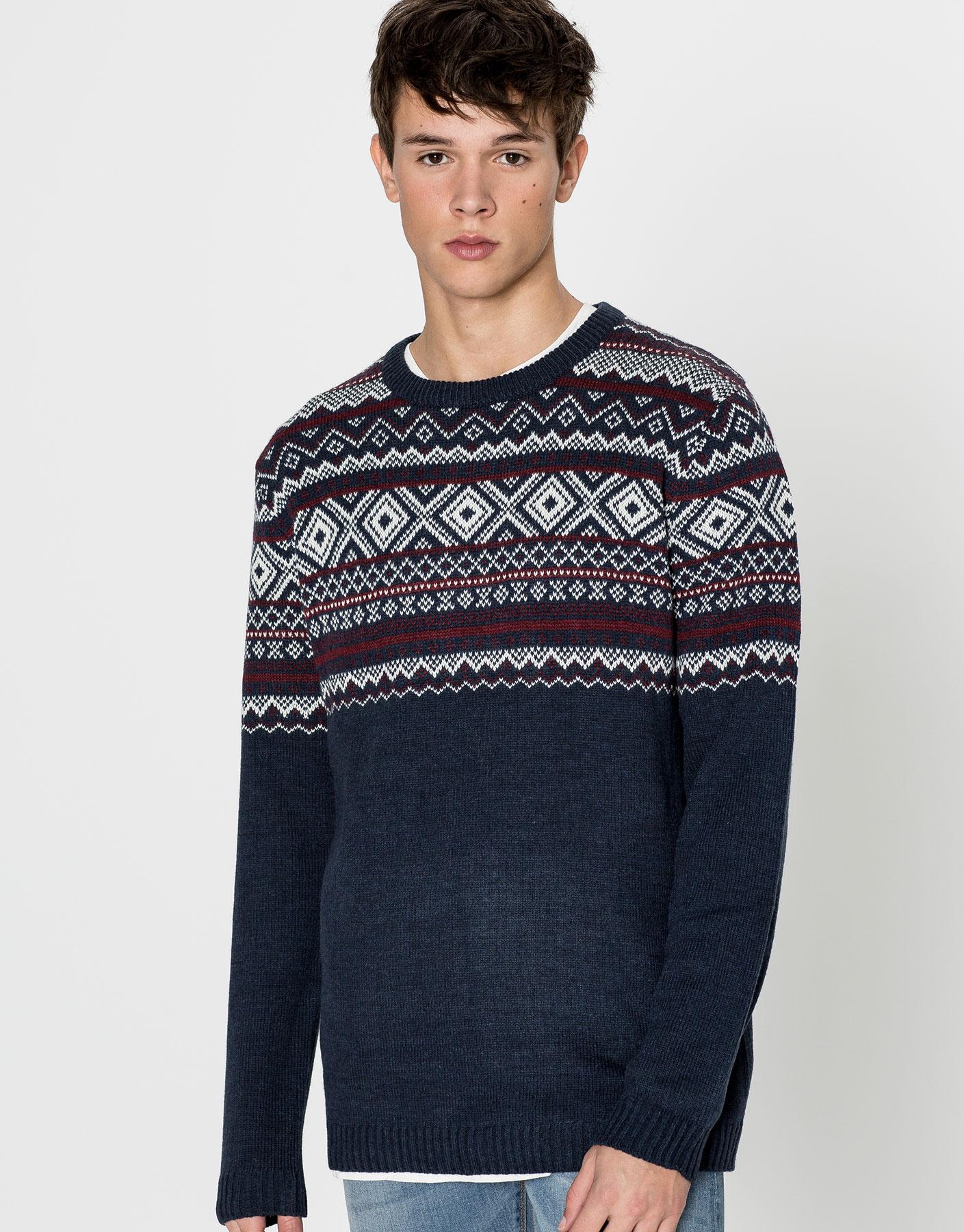 Basic jacquard sweater