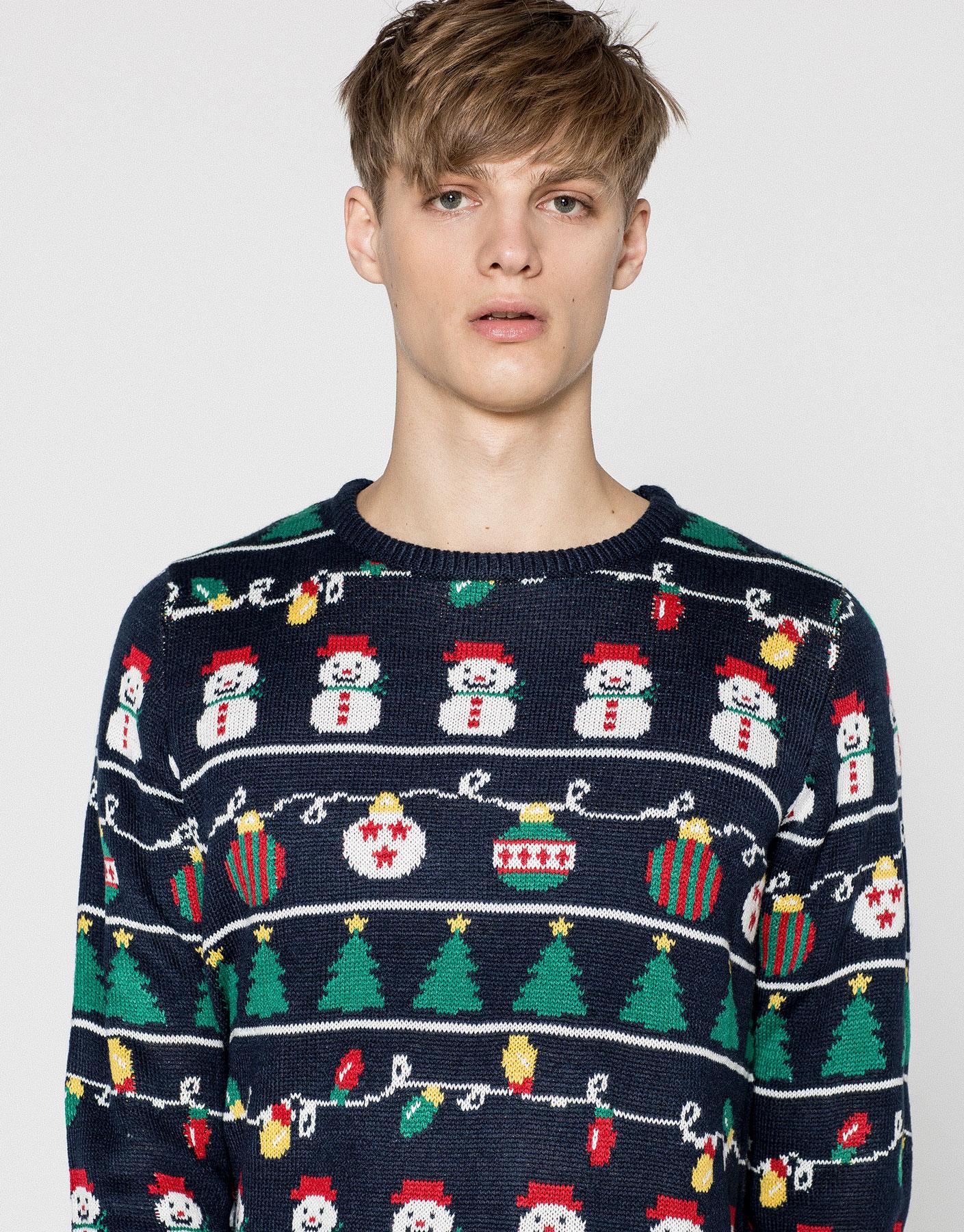 Christmas motifs sweater