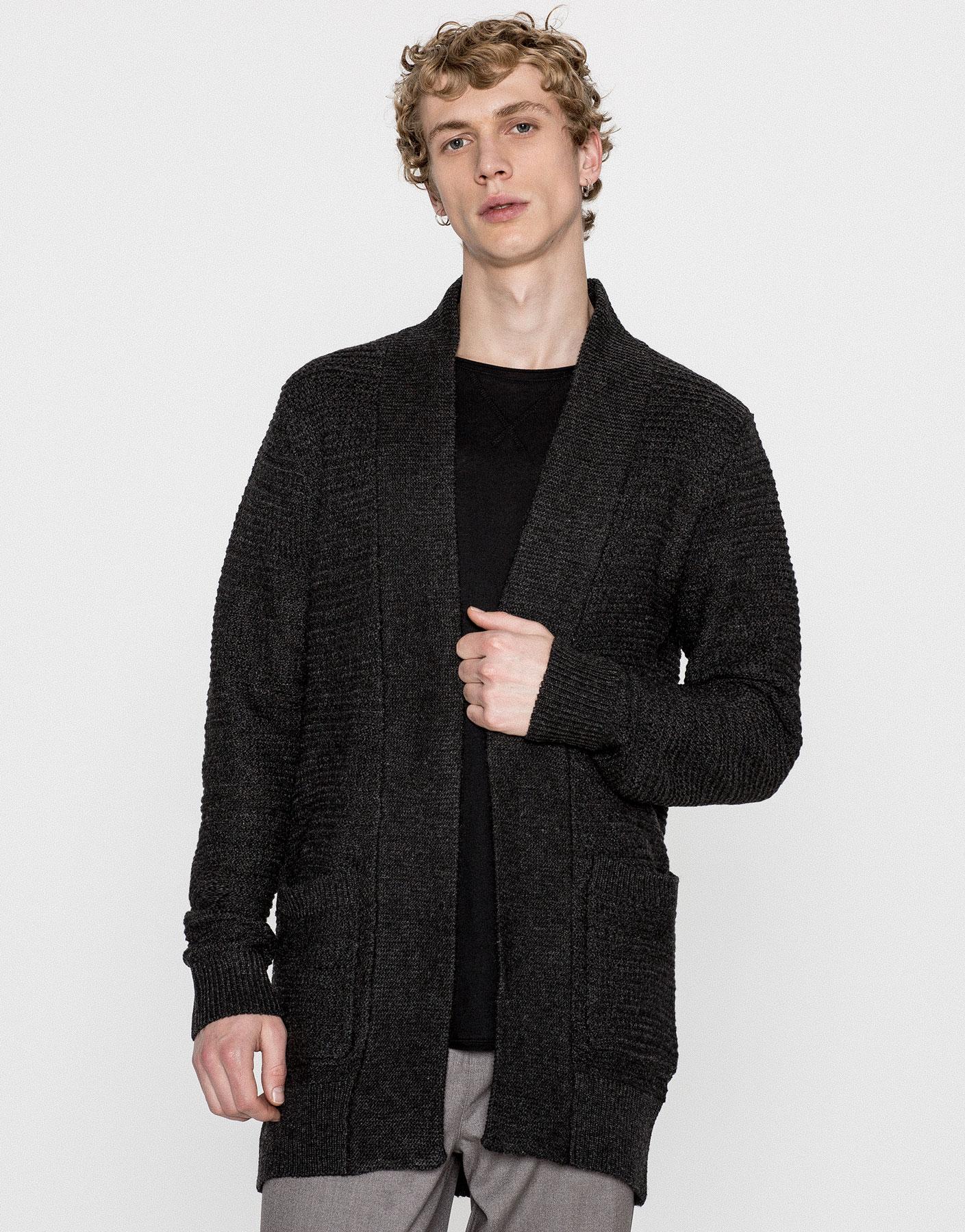 Open textured weave cardigan