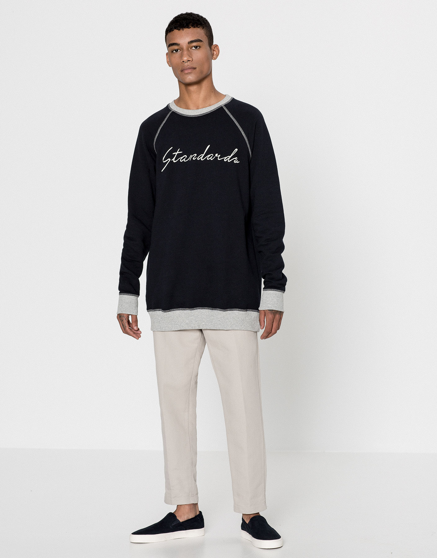 Standards embroidered sweatshirt