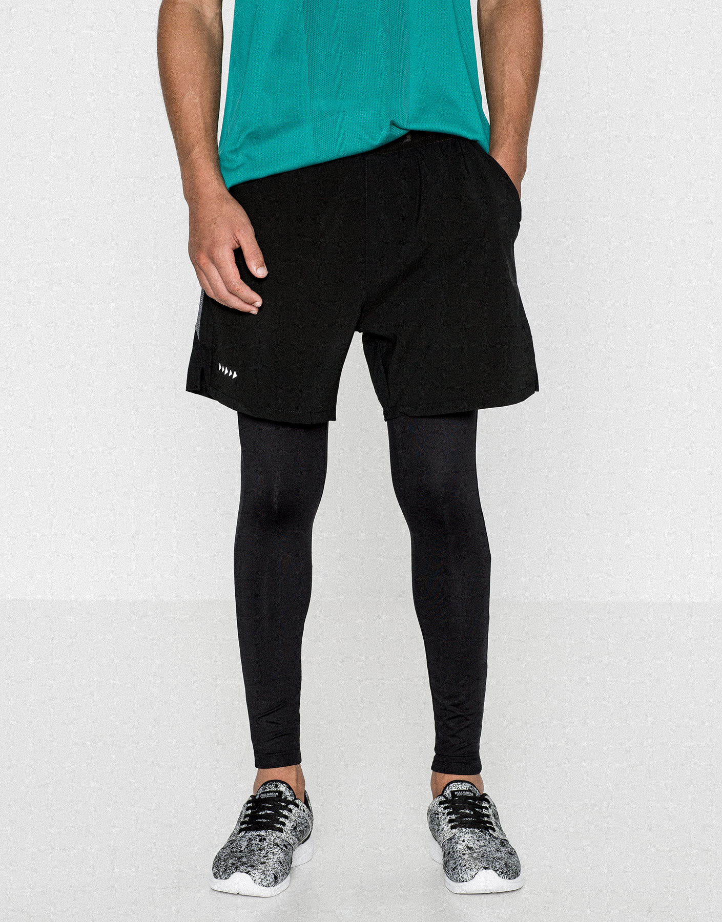 Jersey shorts with meggings