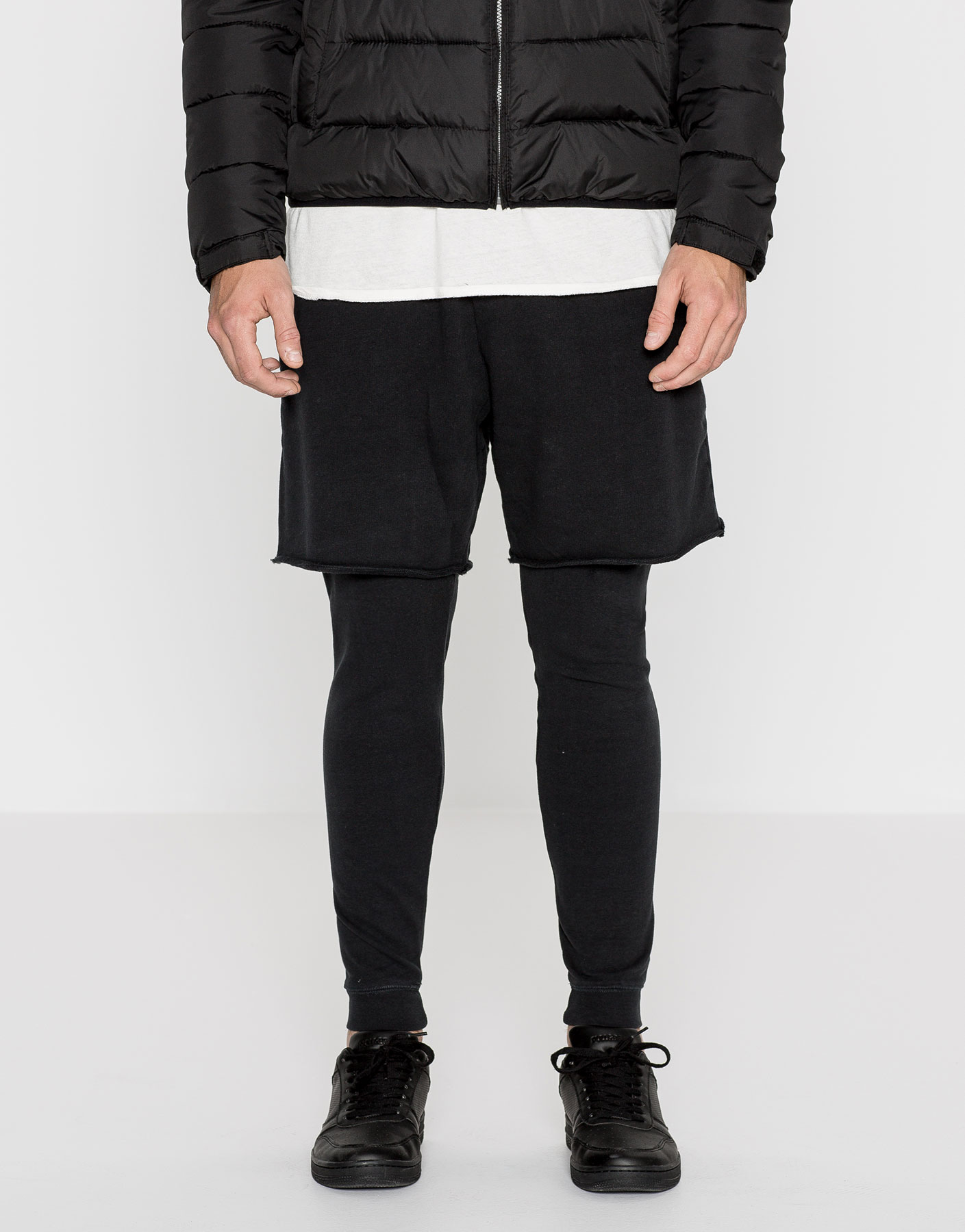 Double layer jogging trousers