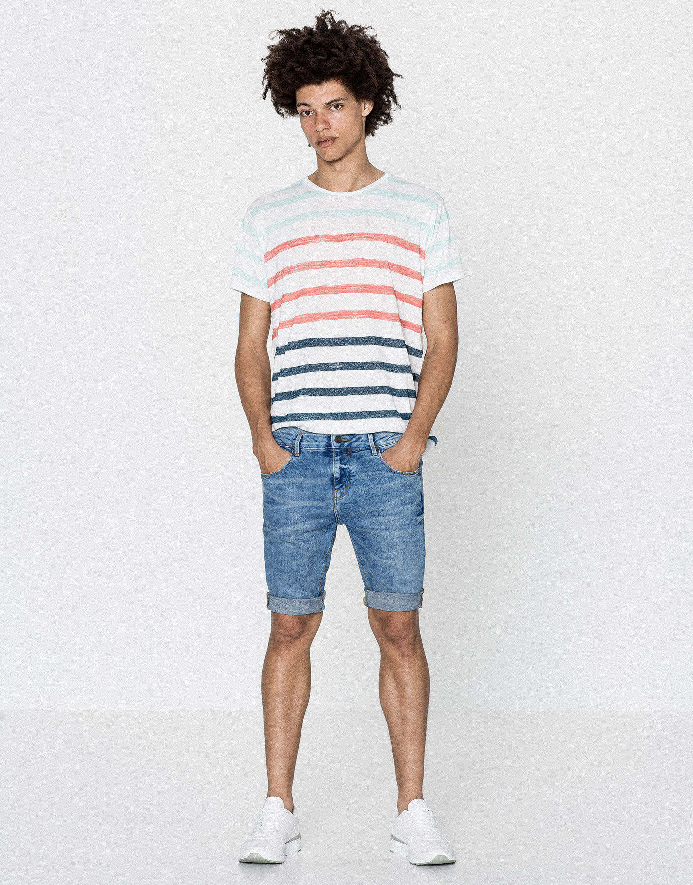 Bermudas denim skinny fit