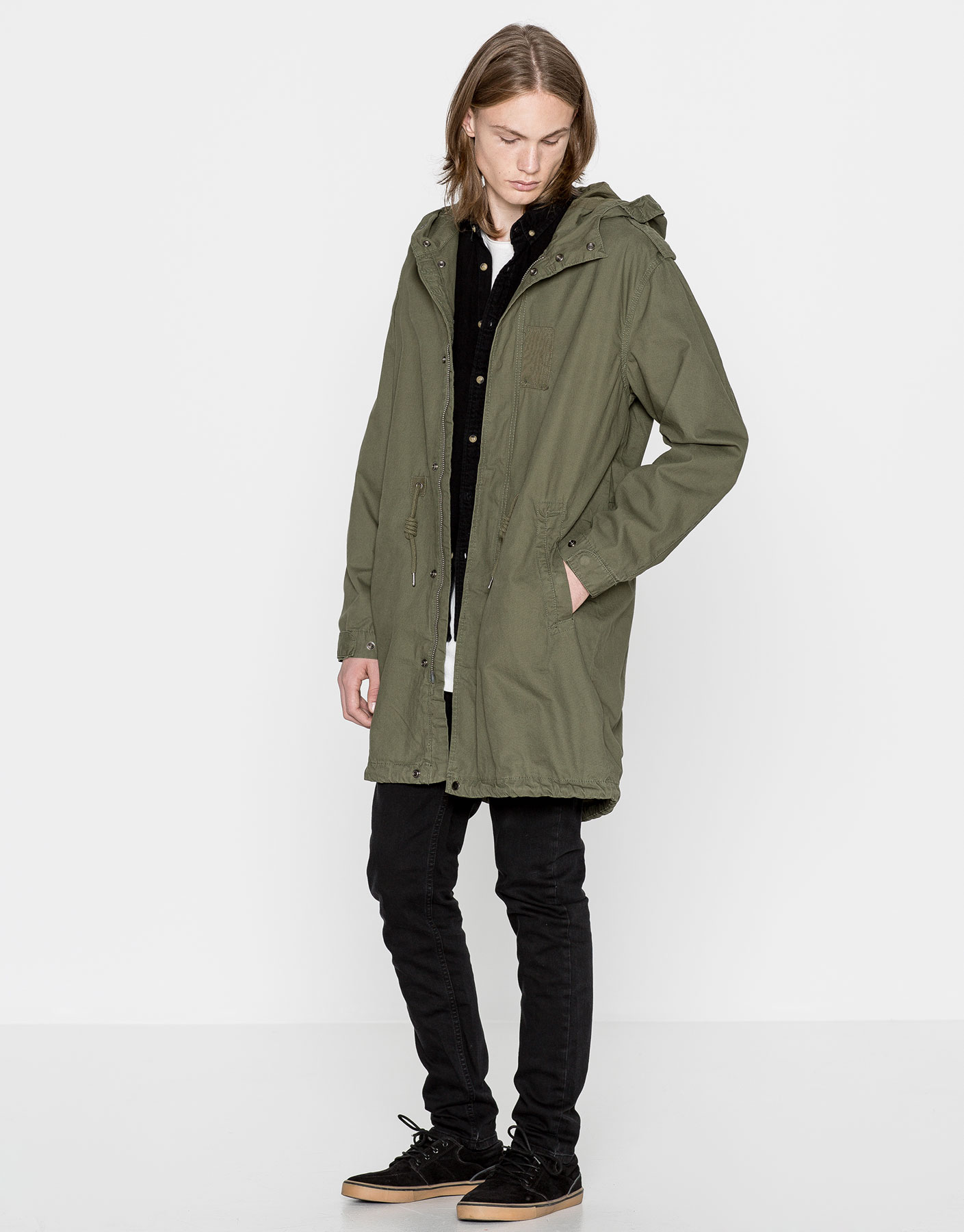 Military hooded parka