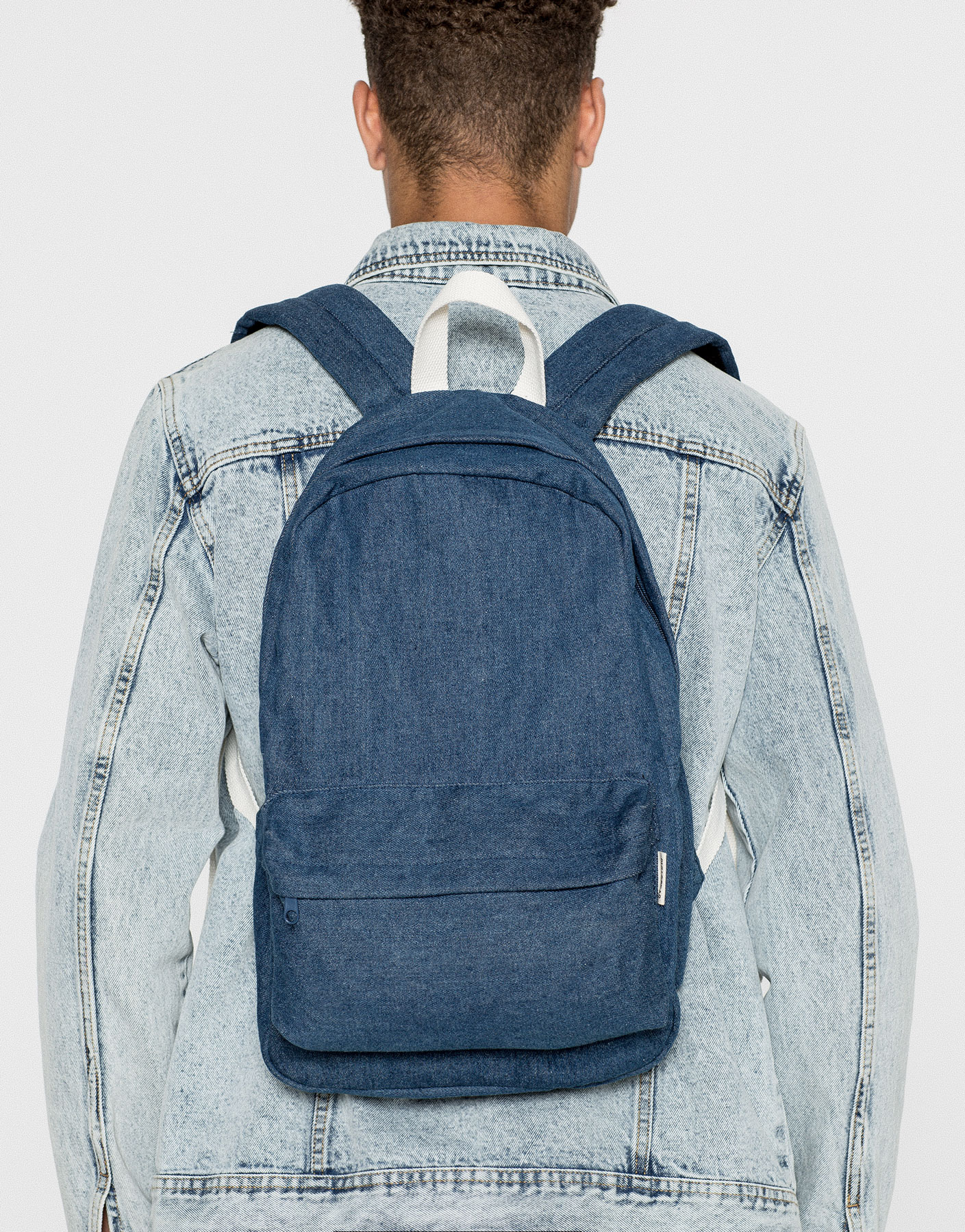 Sac à dos denim bleu