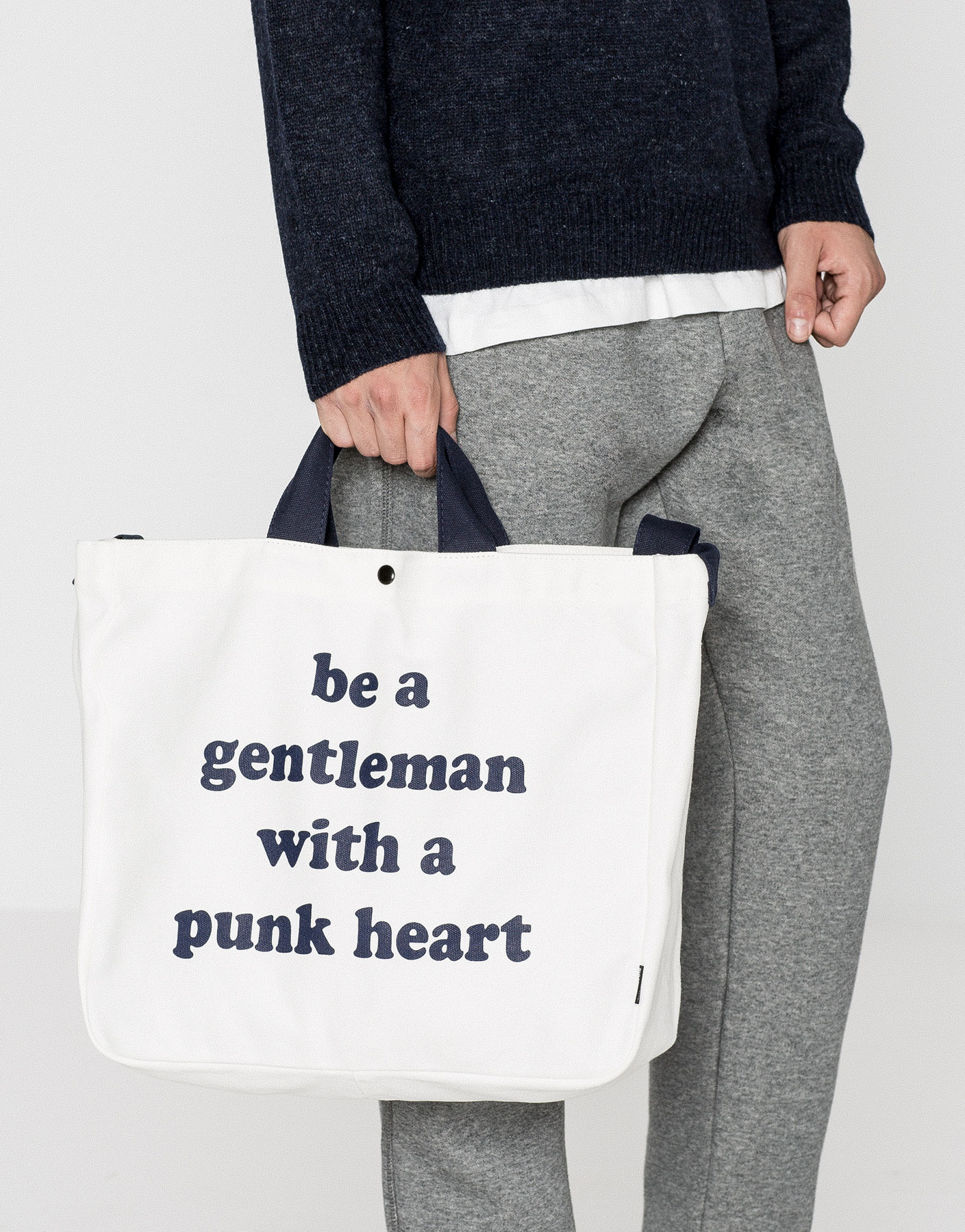 Tote bag punk heart