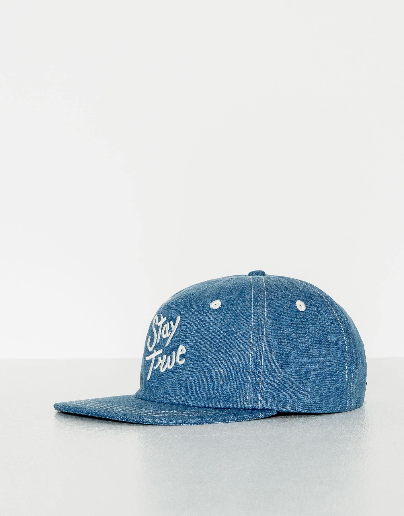 Blue text cap