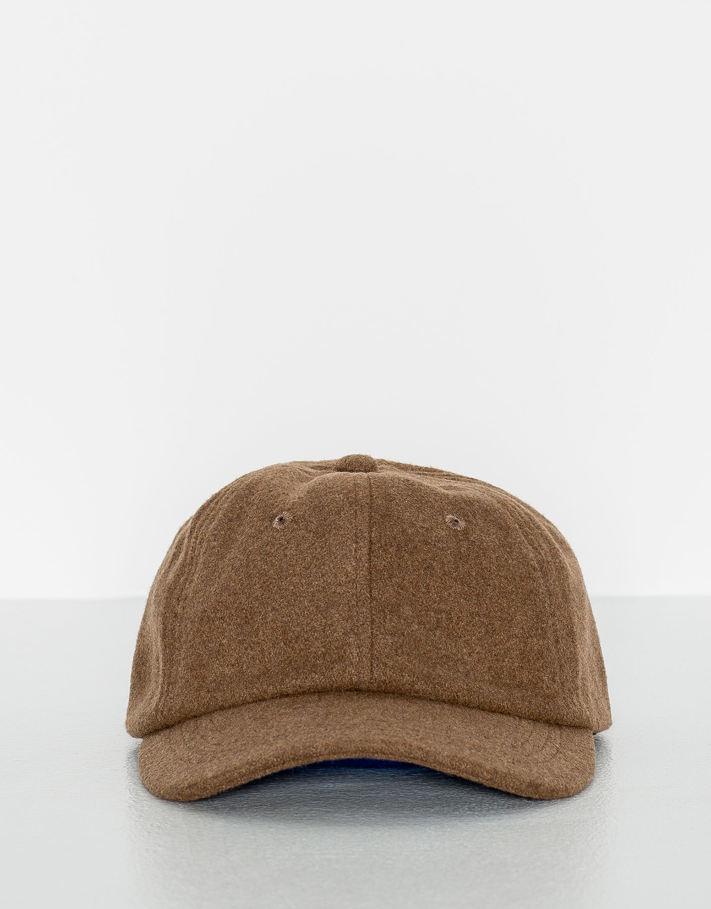 Textured weave sand-coloured hat