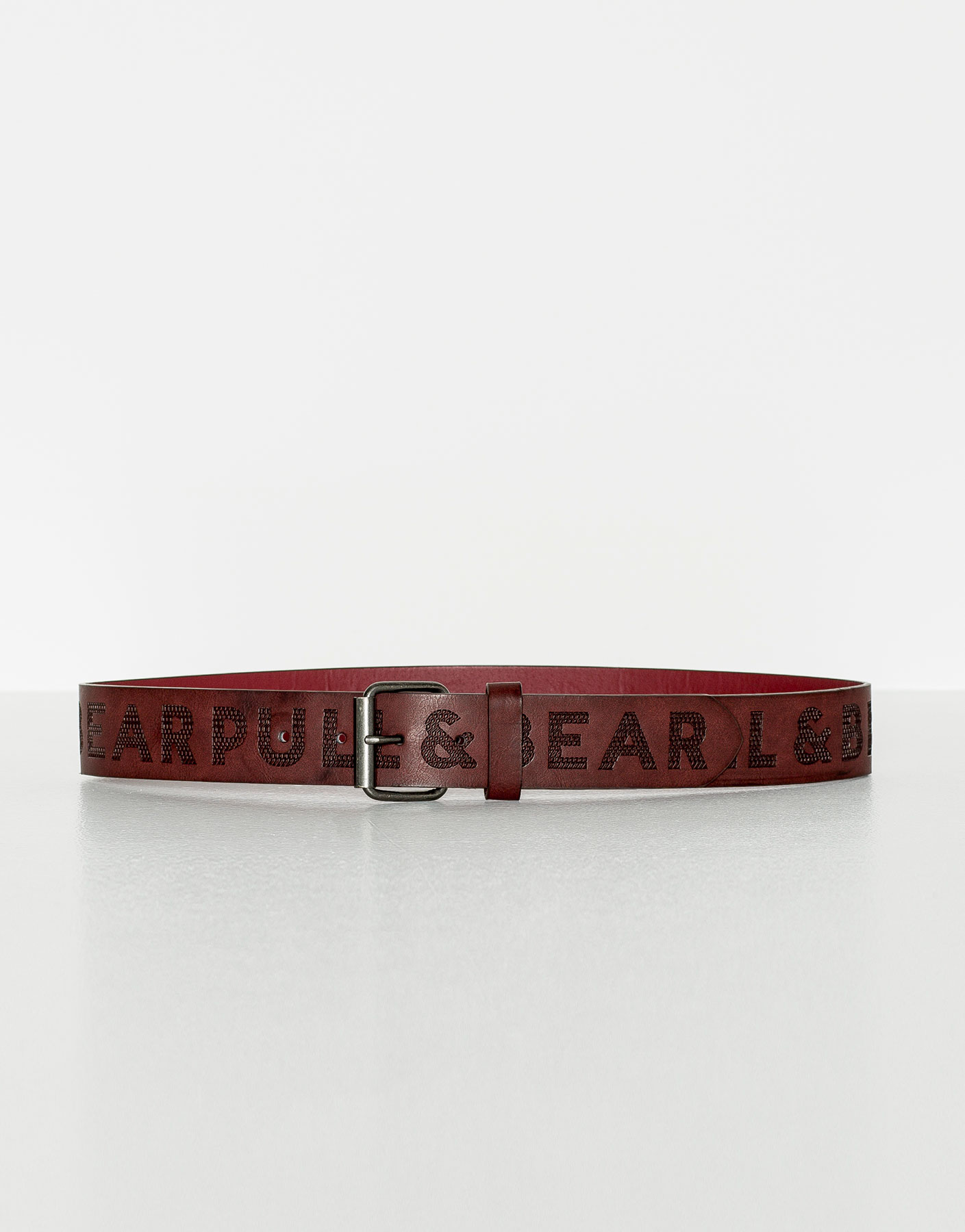 Pullandbear logo belt