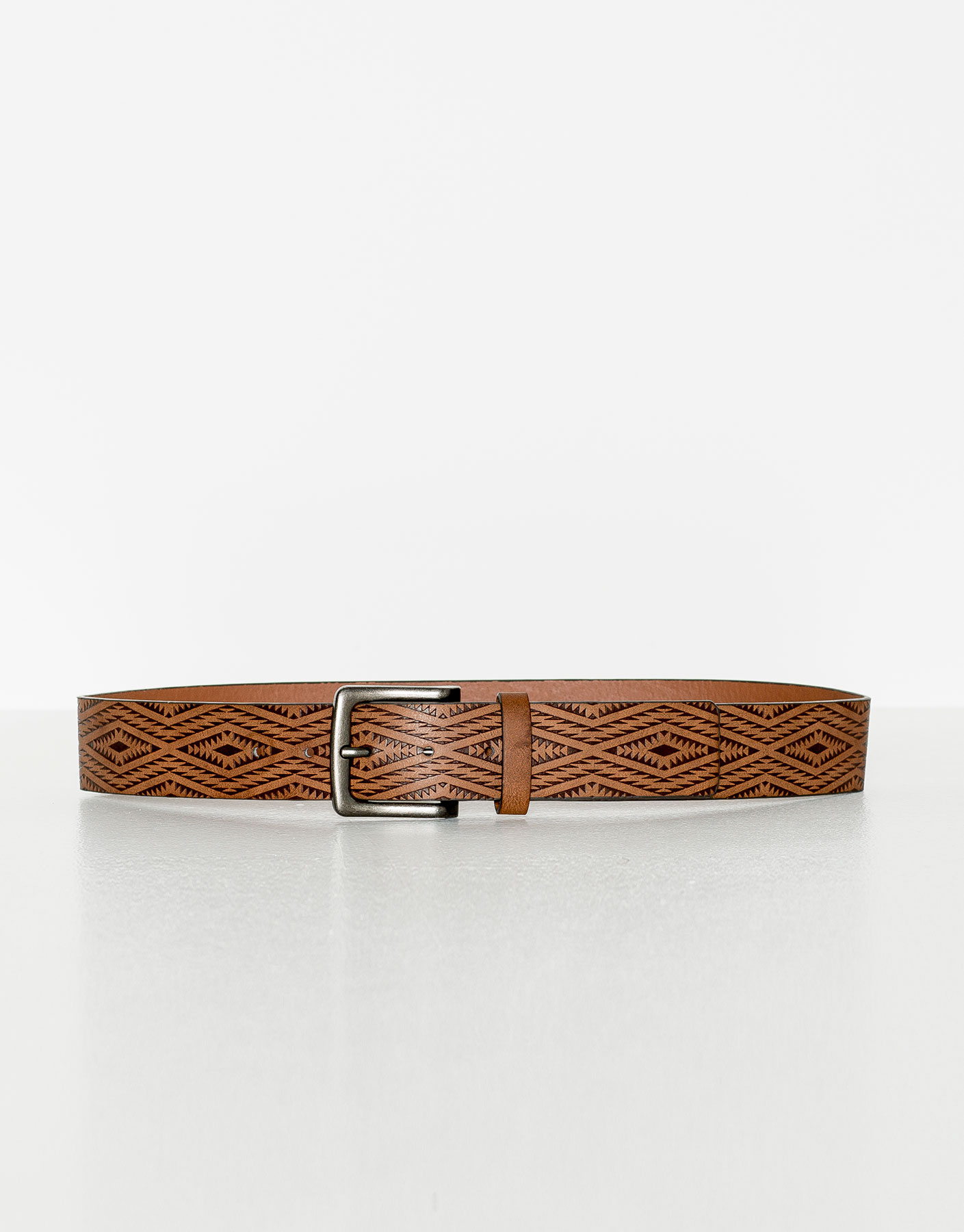 Brown aztec belt
