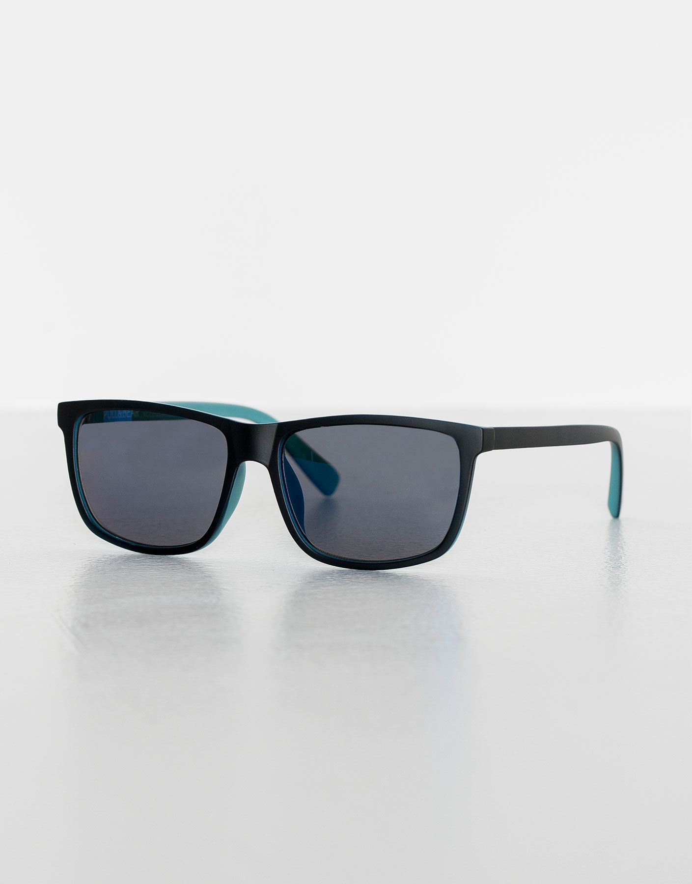 Two-tone resin sunglasses