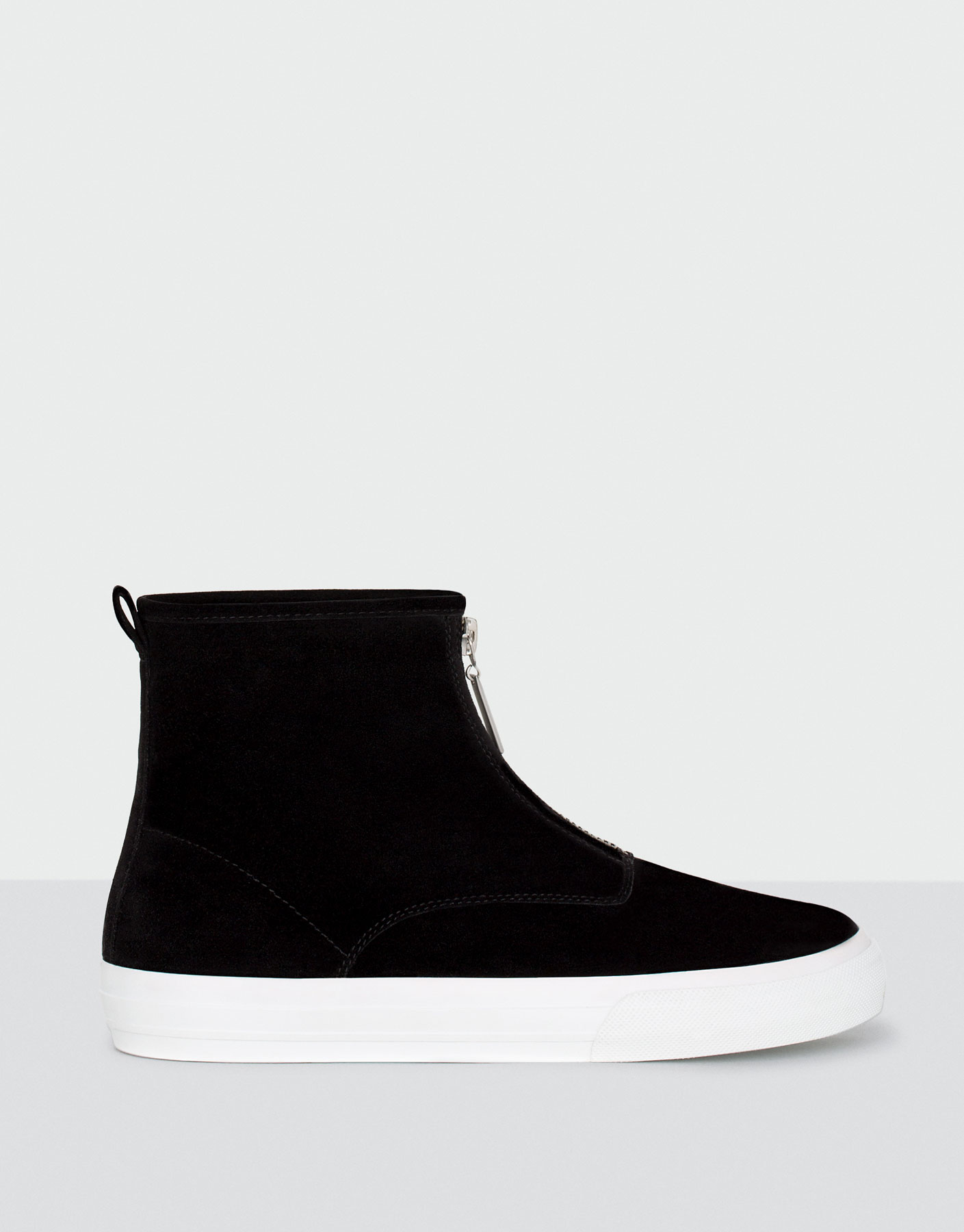 Zipped high-top sneakers