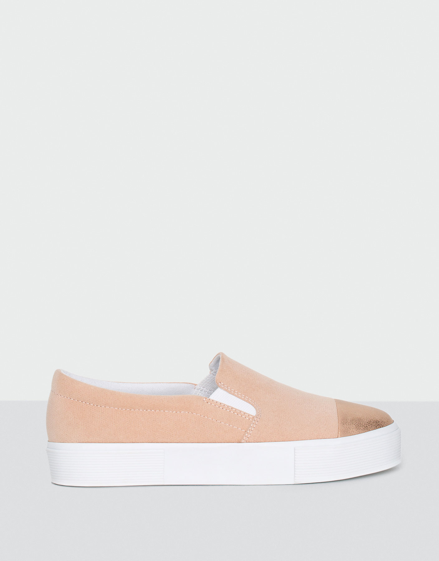 Slip on punteira metalizada