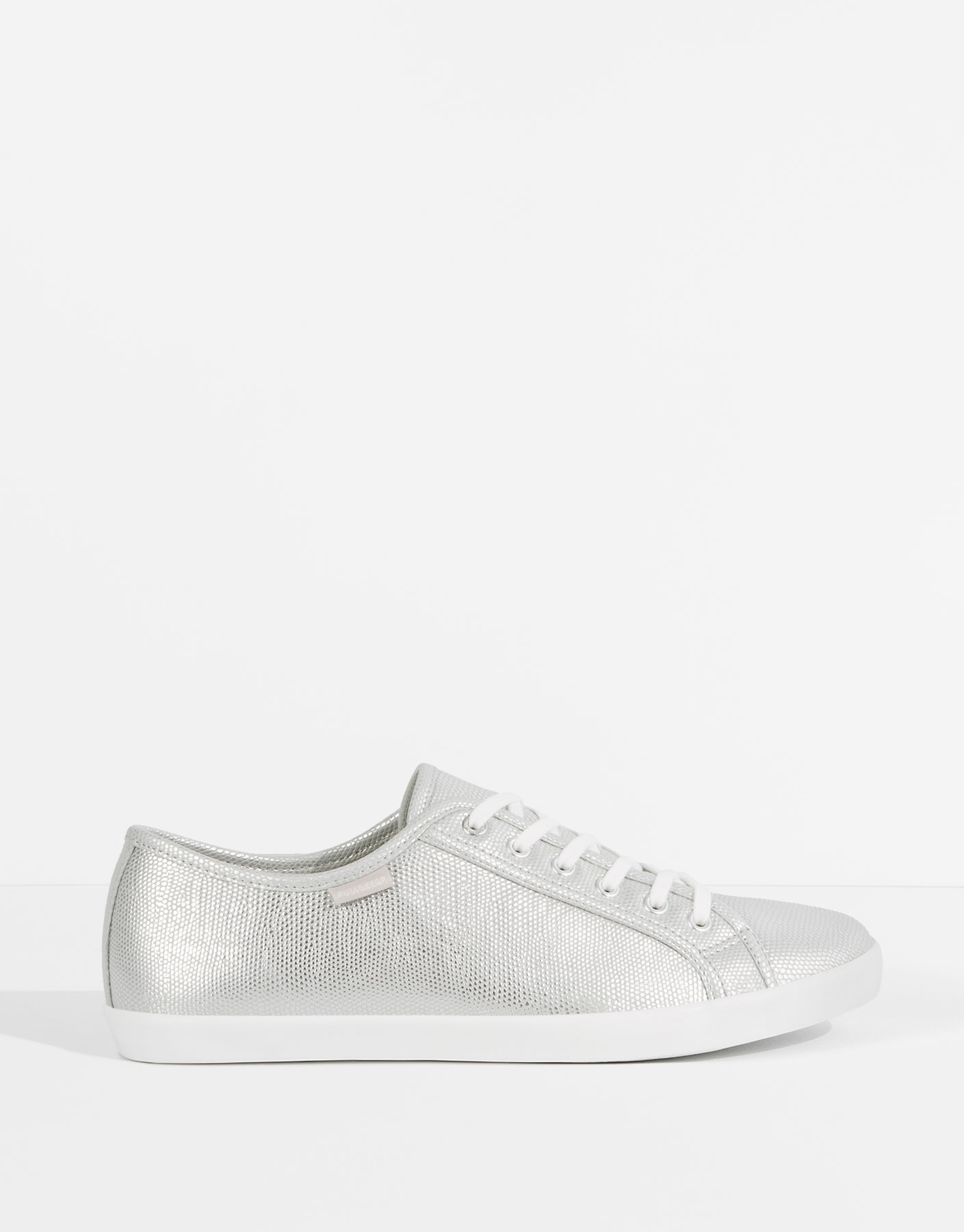 Silver-toned sneakers