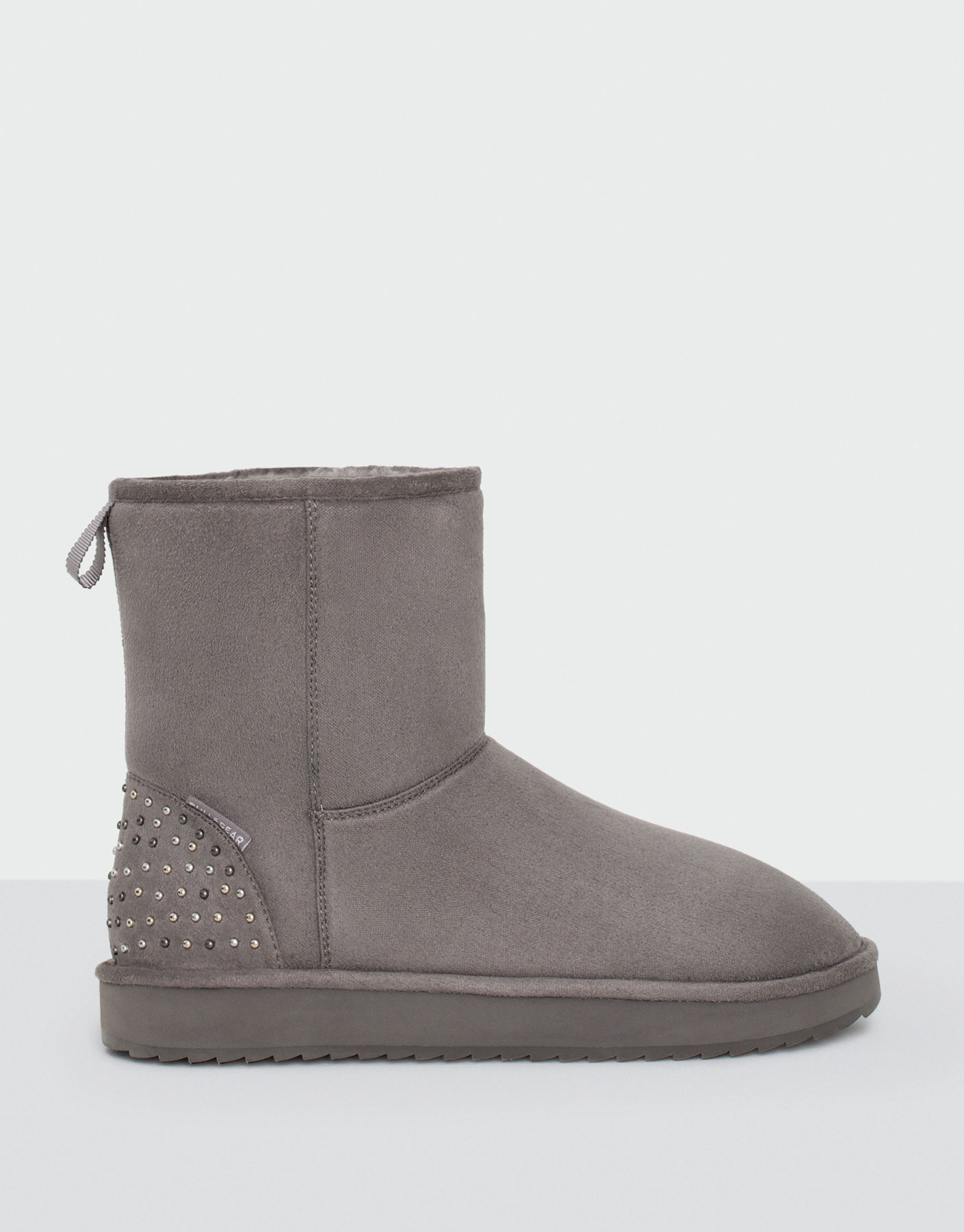 Grey winter ankle boots