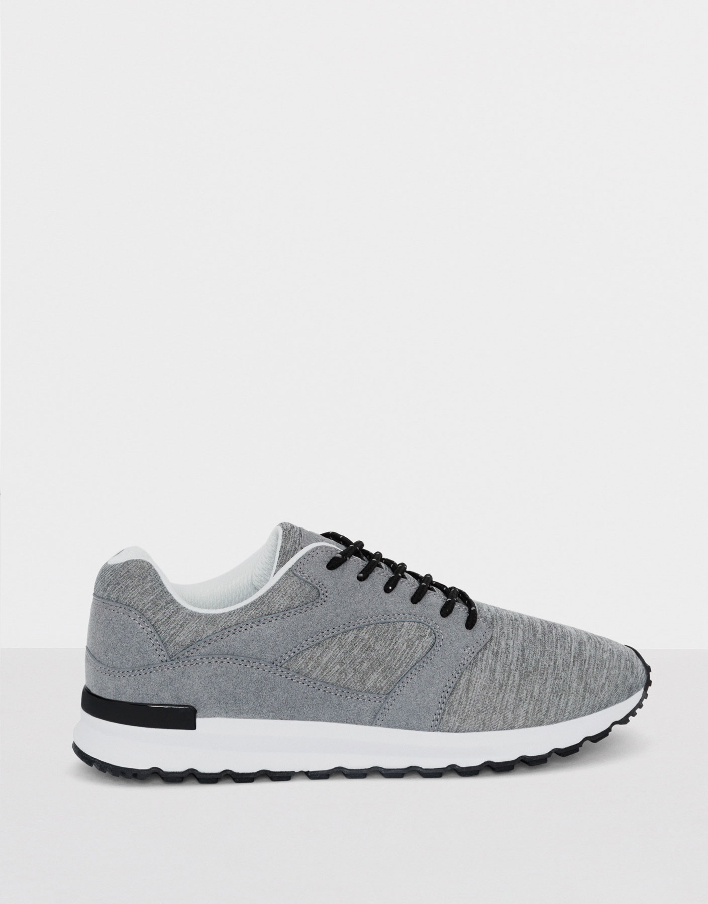 Ash grey fabric sneakers