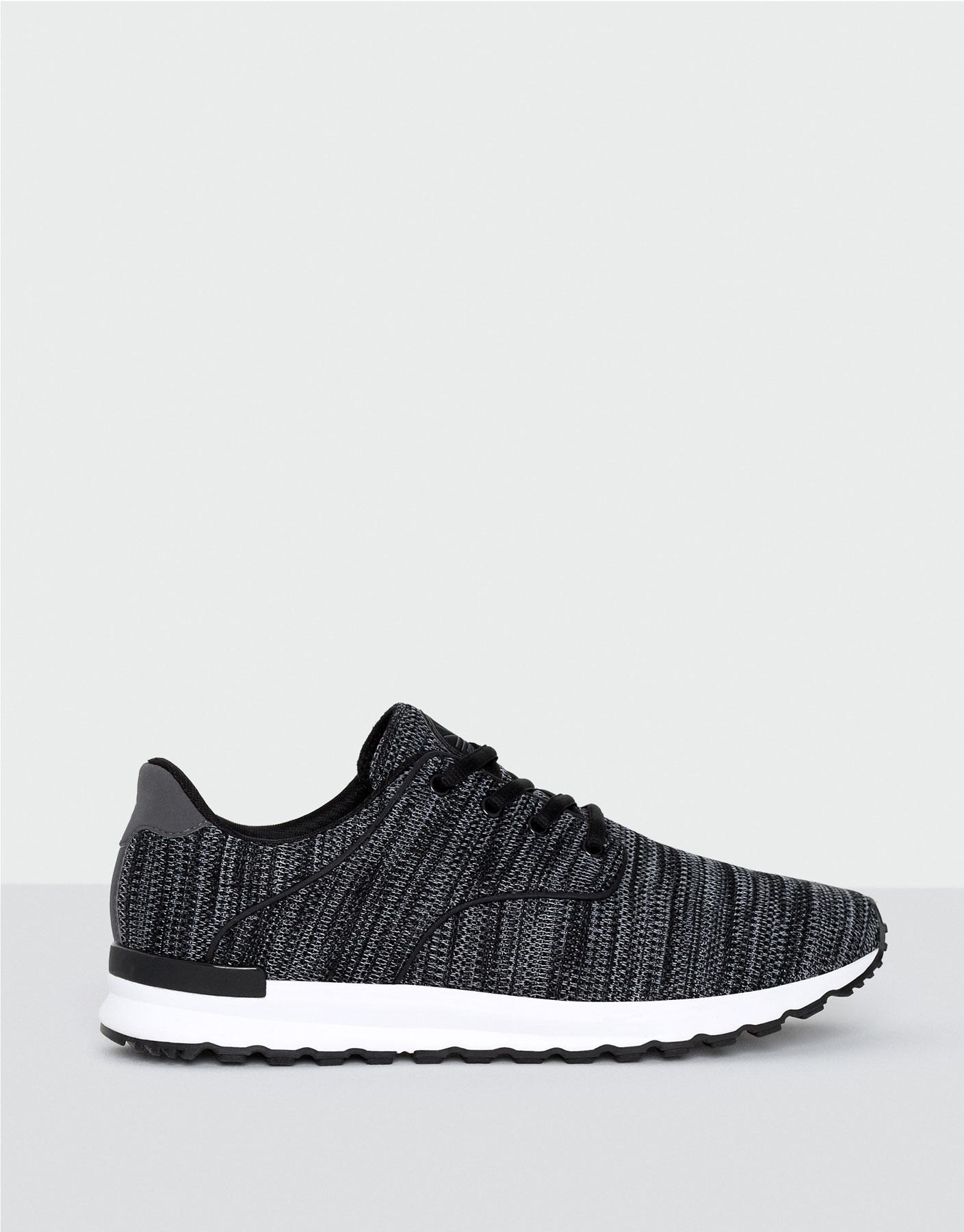 Jersey knit sneakers