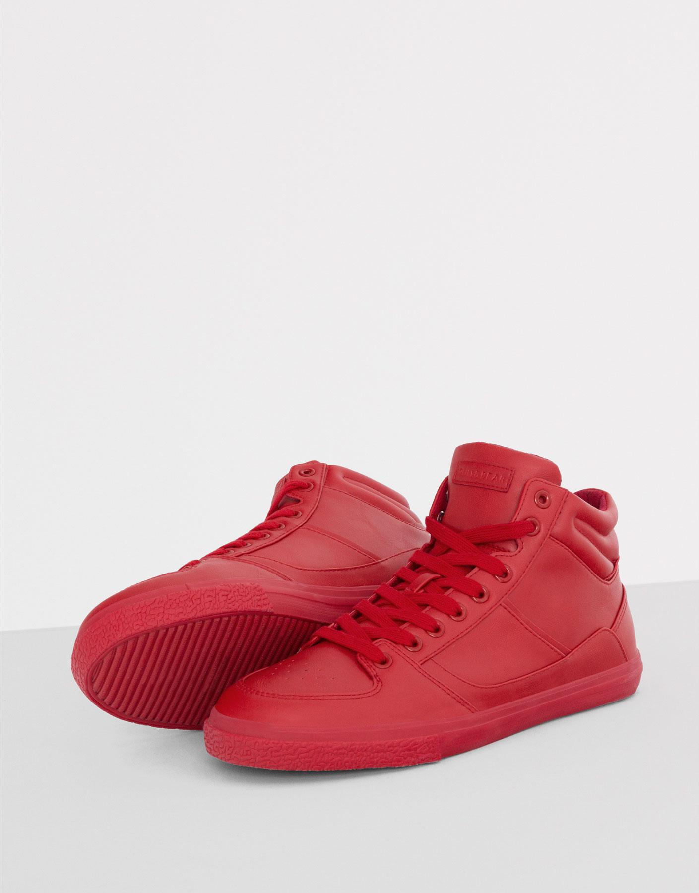 Deportivo botín monocolor rojo