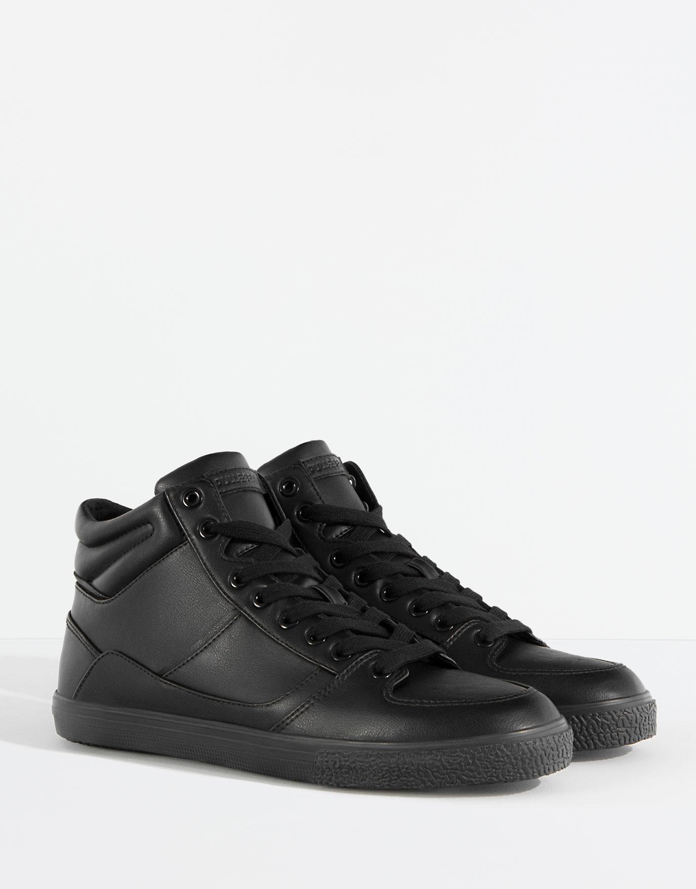 Single tone sneaker boots
