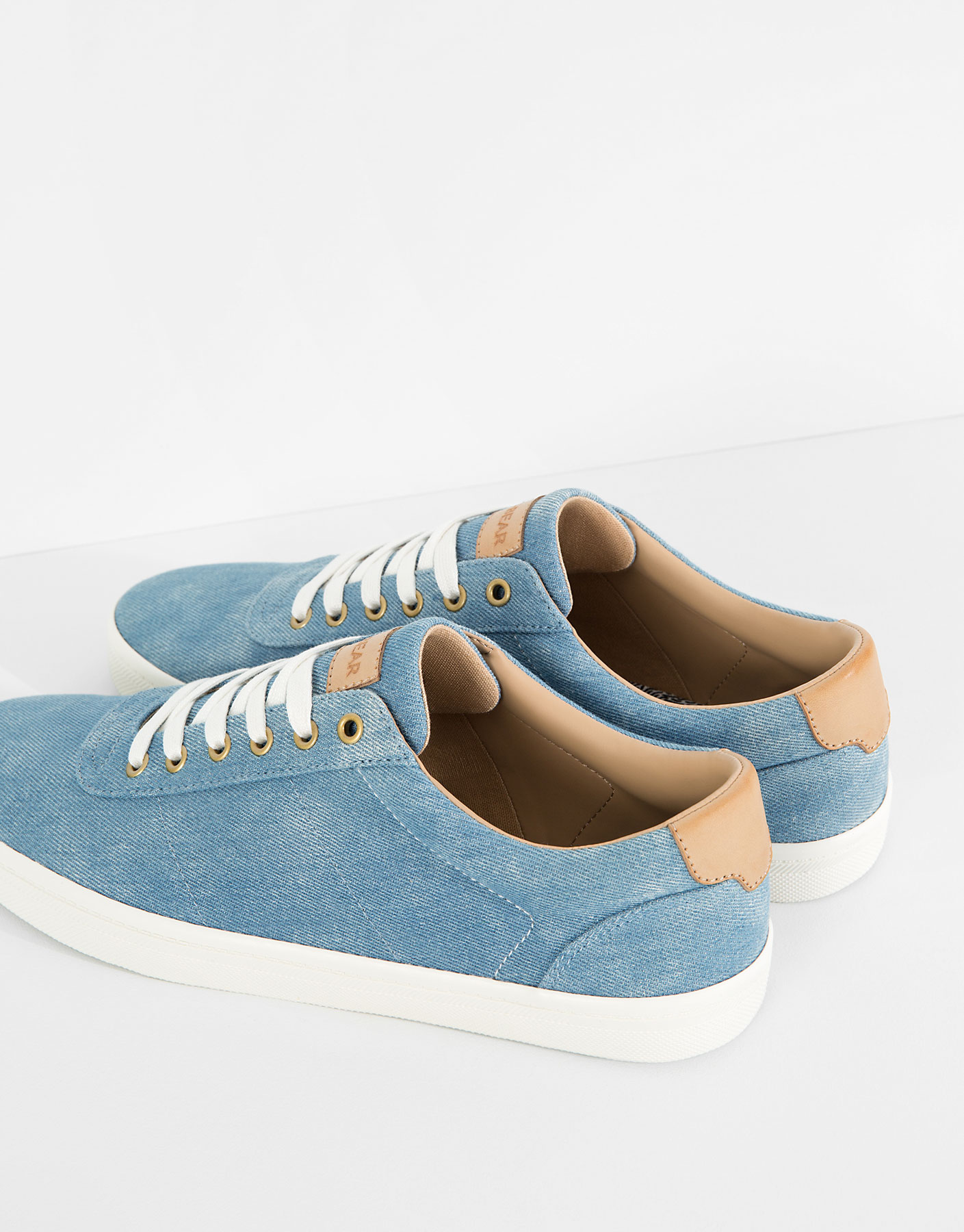 Denim plimsolls