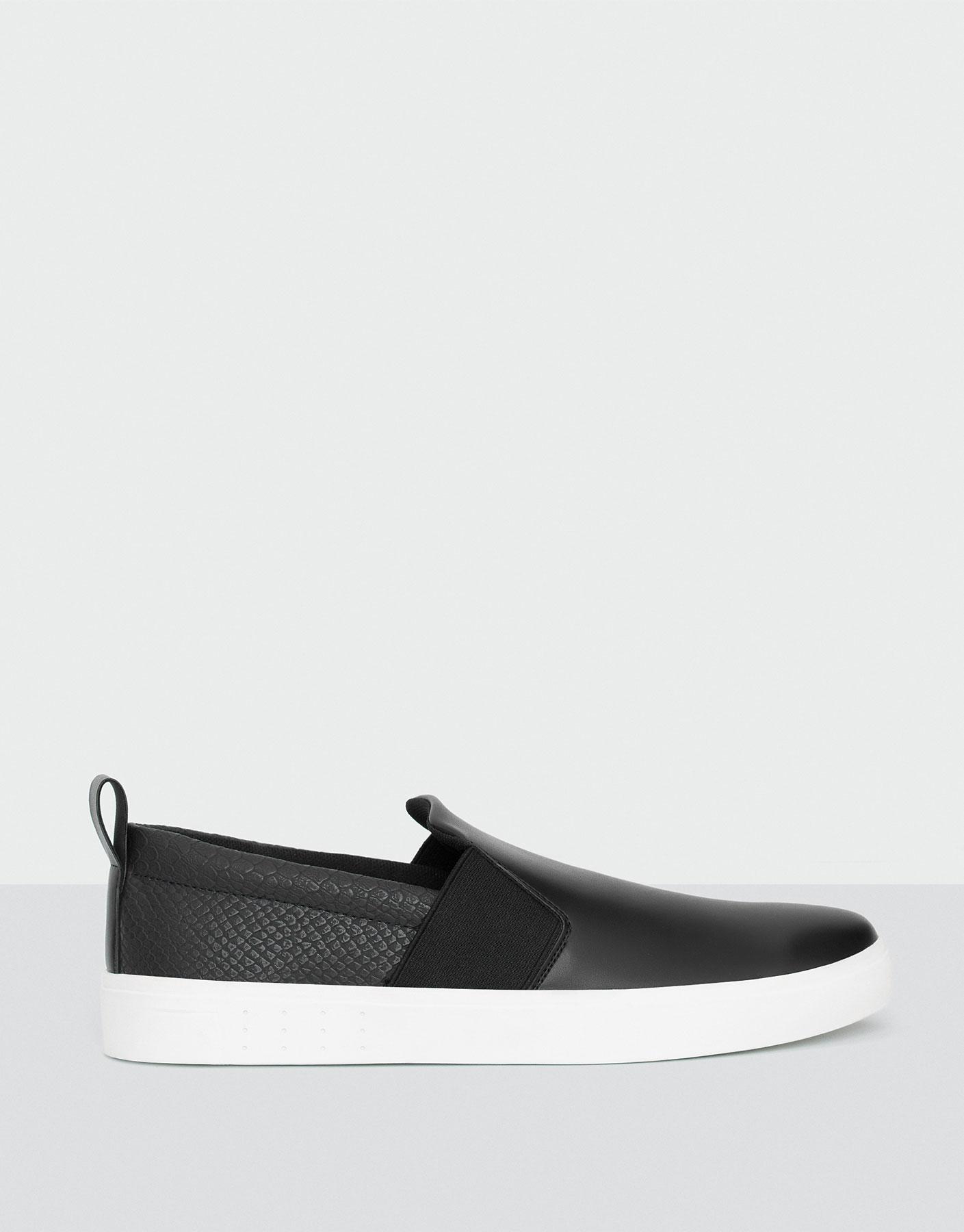 Sneaker elasticizzate con incisioni pro
