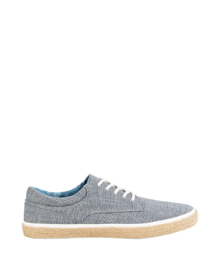 STRIPED JUTE PLIMSOLLS