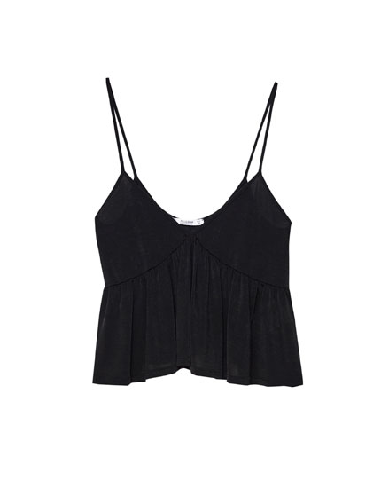 Top cropped volant