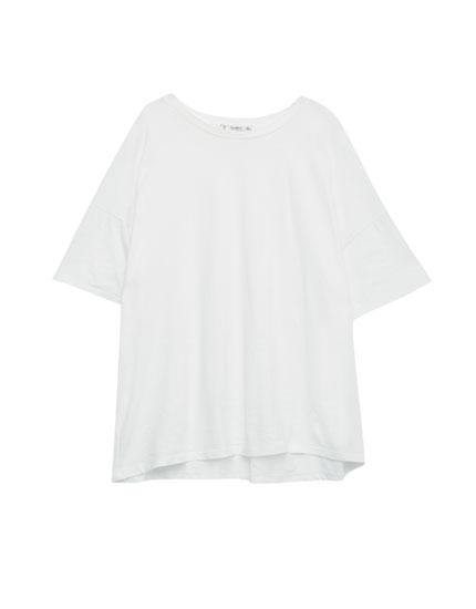 Oversized drop sleeve T-shirt