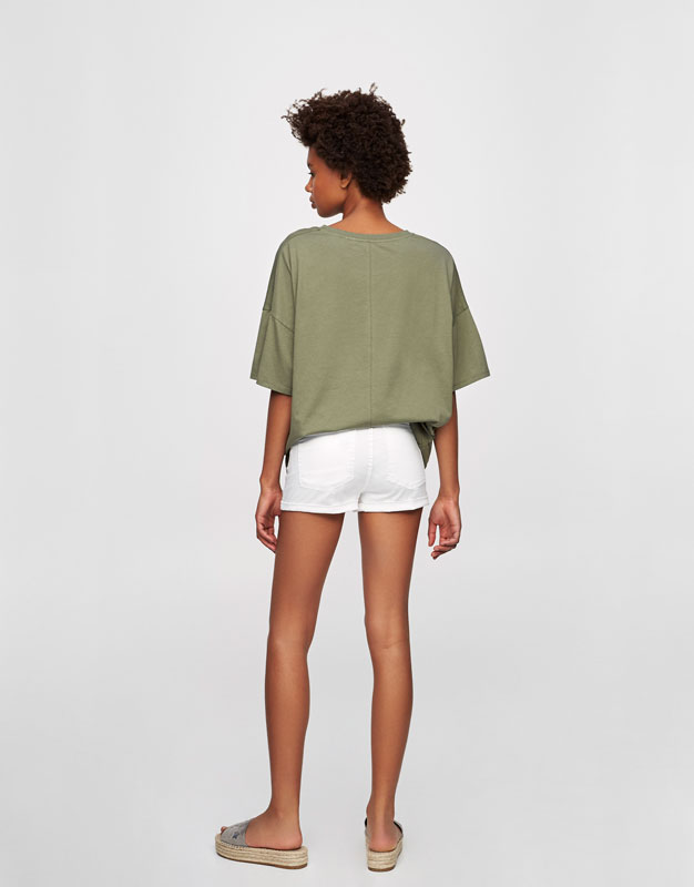Oversized drop sleeve T-shirt
