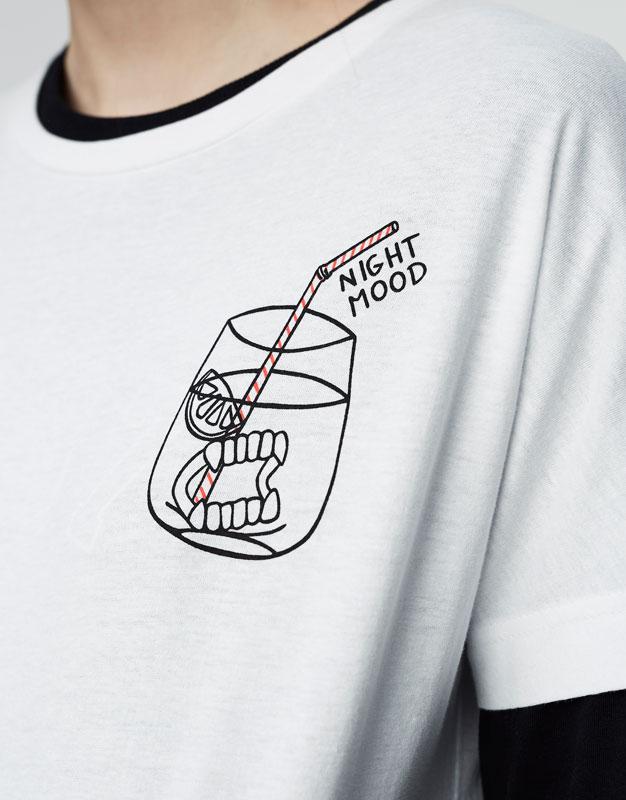 Cocktail print T-shirt